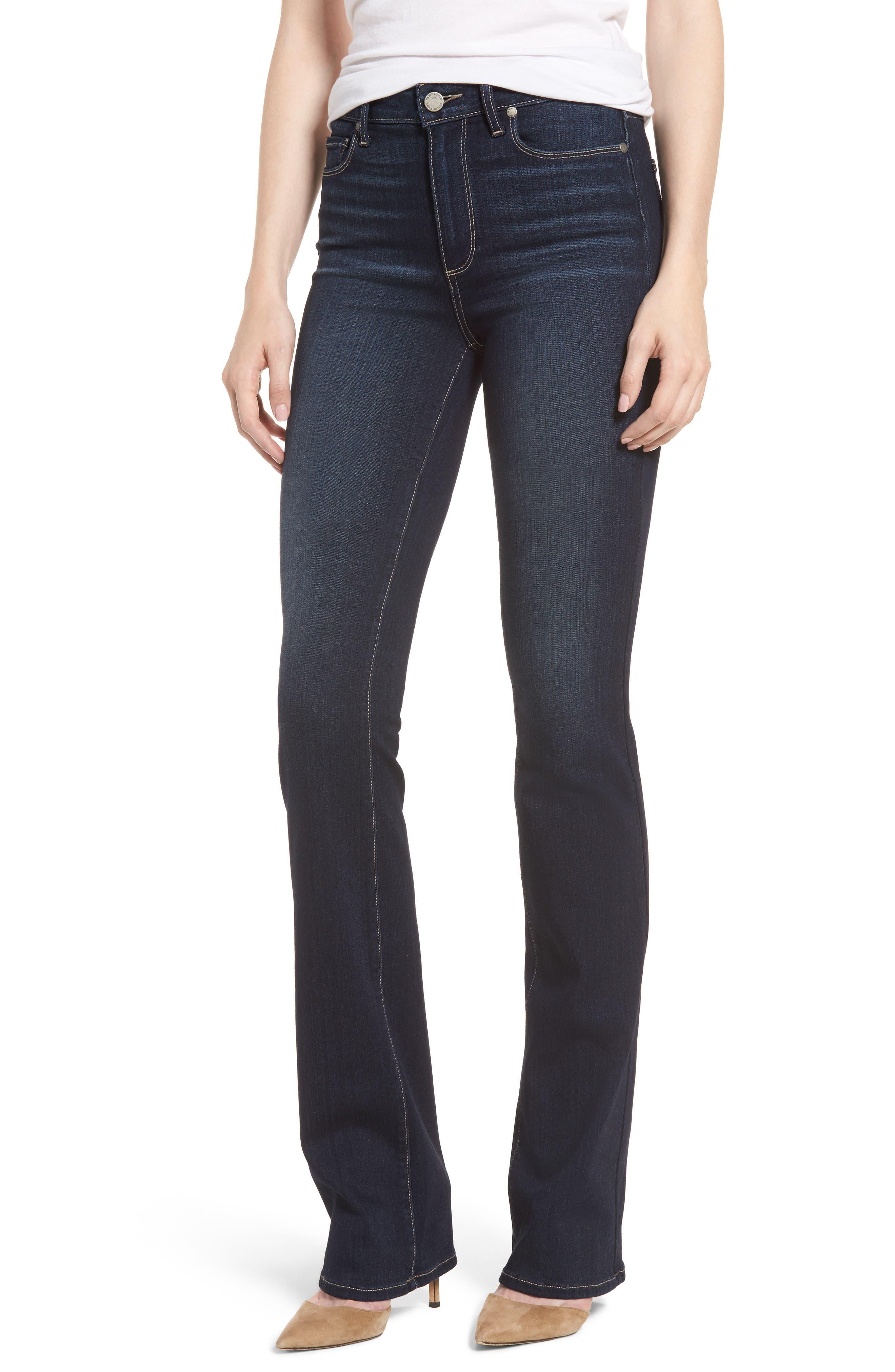 PAIGE Transcend - Manhattan High Waist Bootcut Jeans (Gardena)