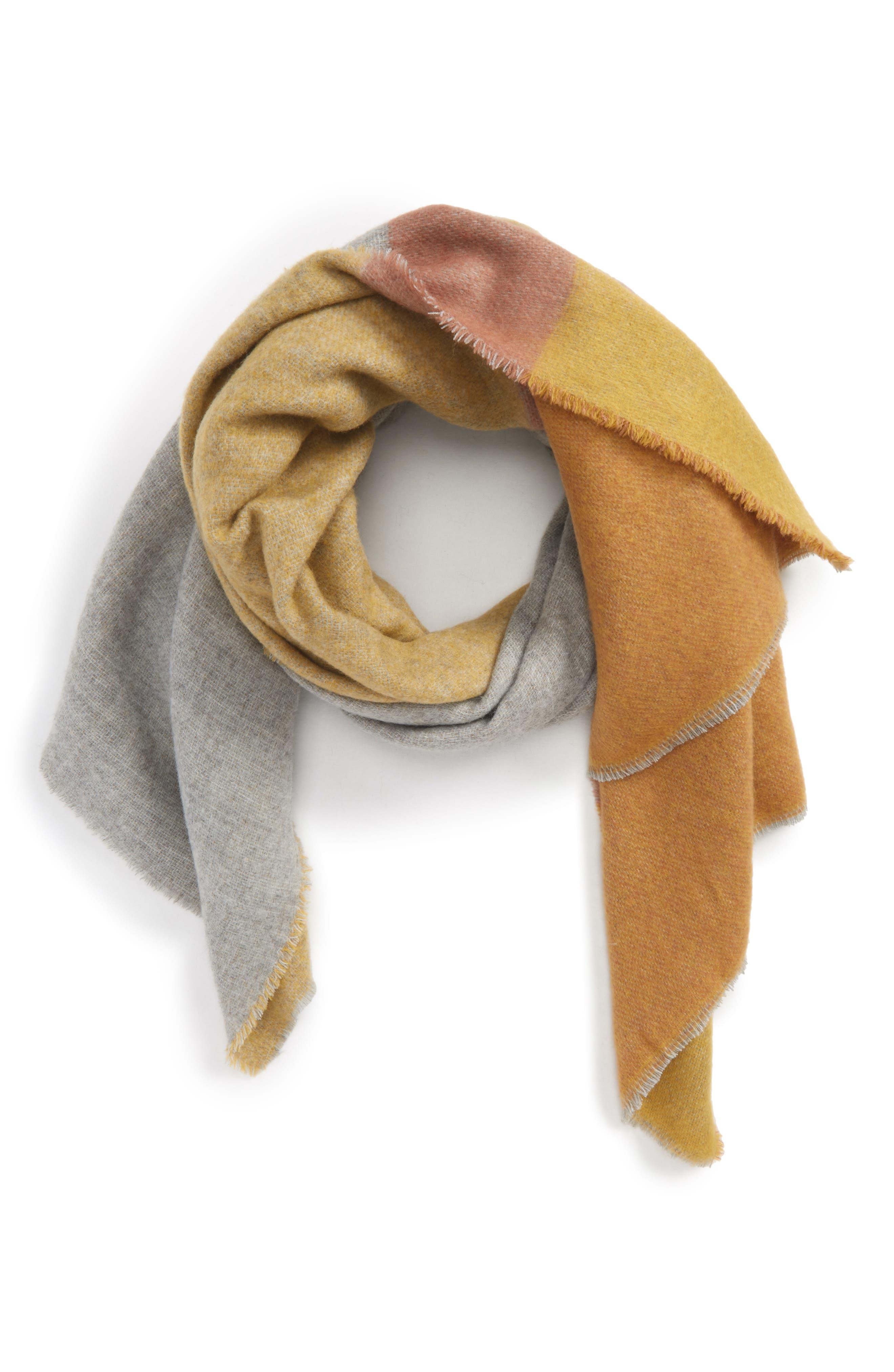 Colorblock Scarf,                         Main,                         color, Yellow Multi