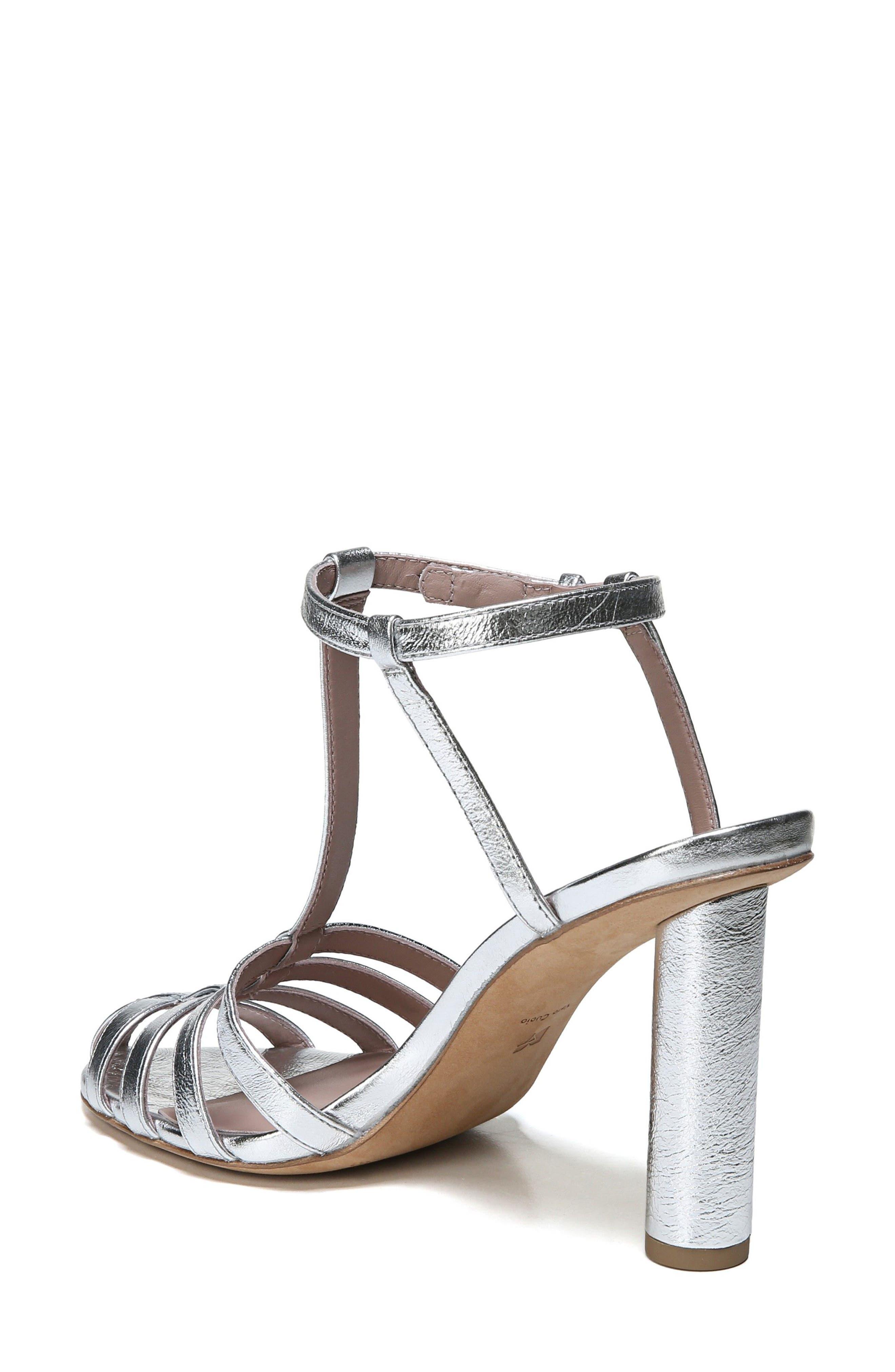 Eva T-Strap Sandal,                             Alternate thumbnail 2, color,                             Metallic Silver