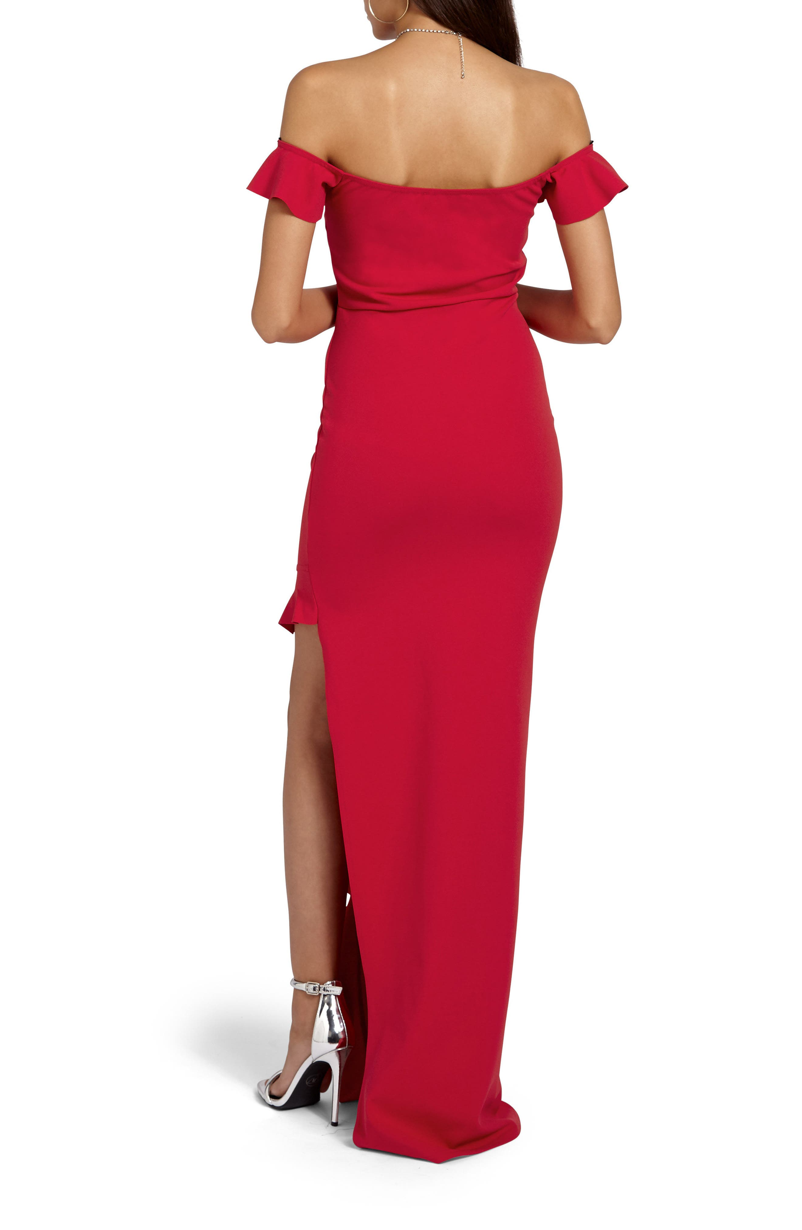 Alternate Image 2  - Missguided Bardot Gown