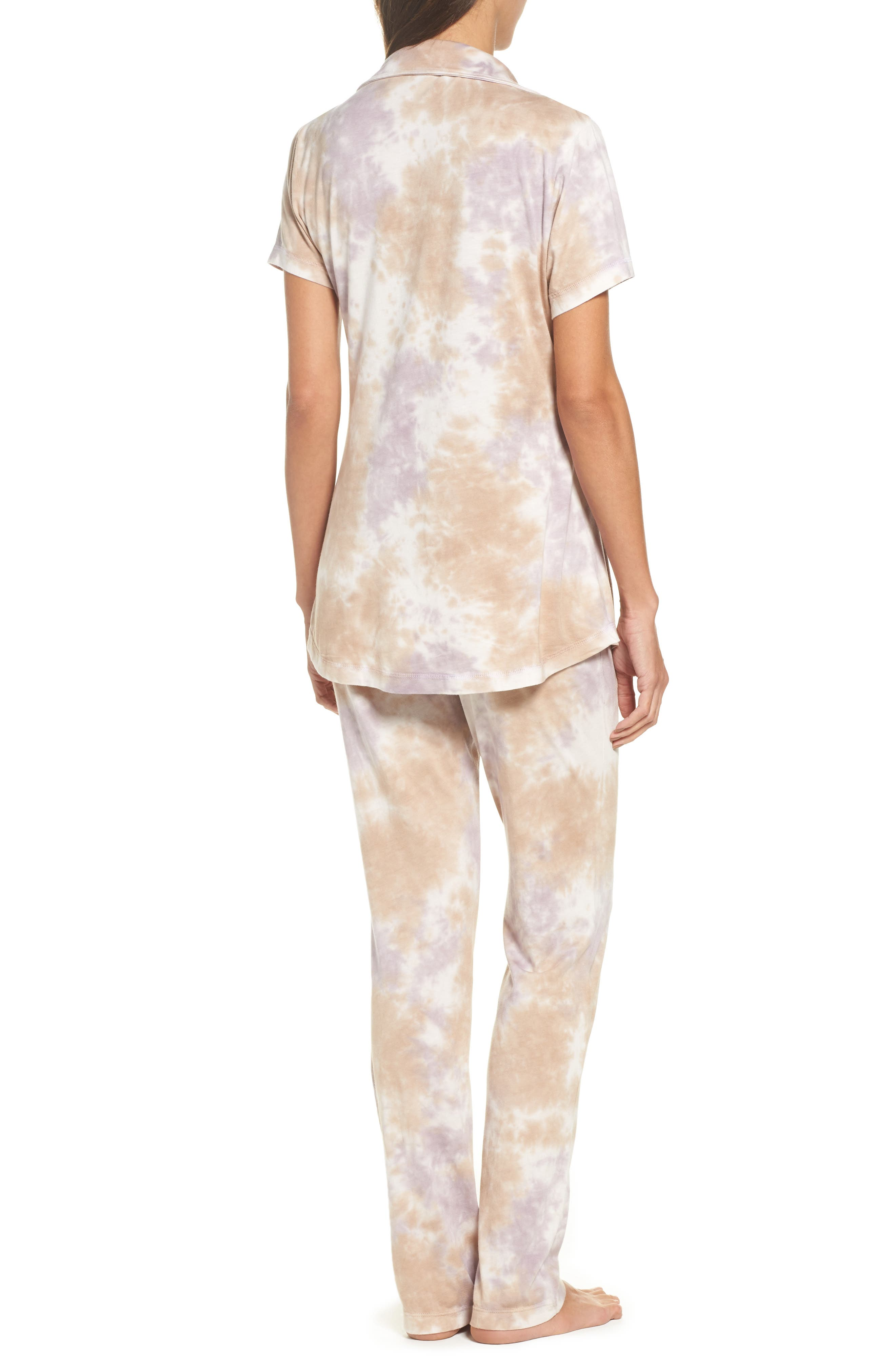 Christine Slim Leg Pajamas,                             Alternate thumbnail 2, color,                             Ash Violet