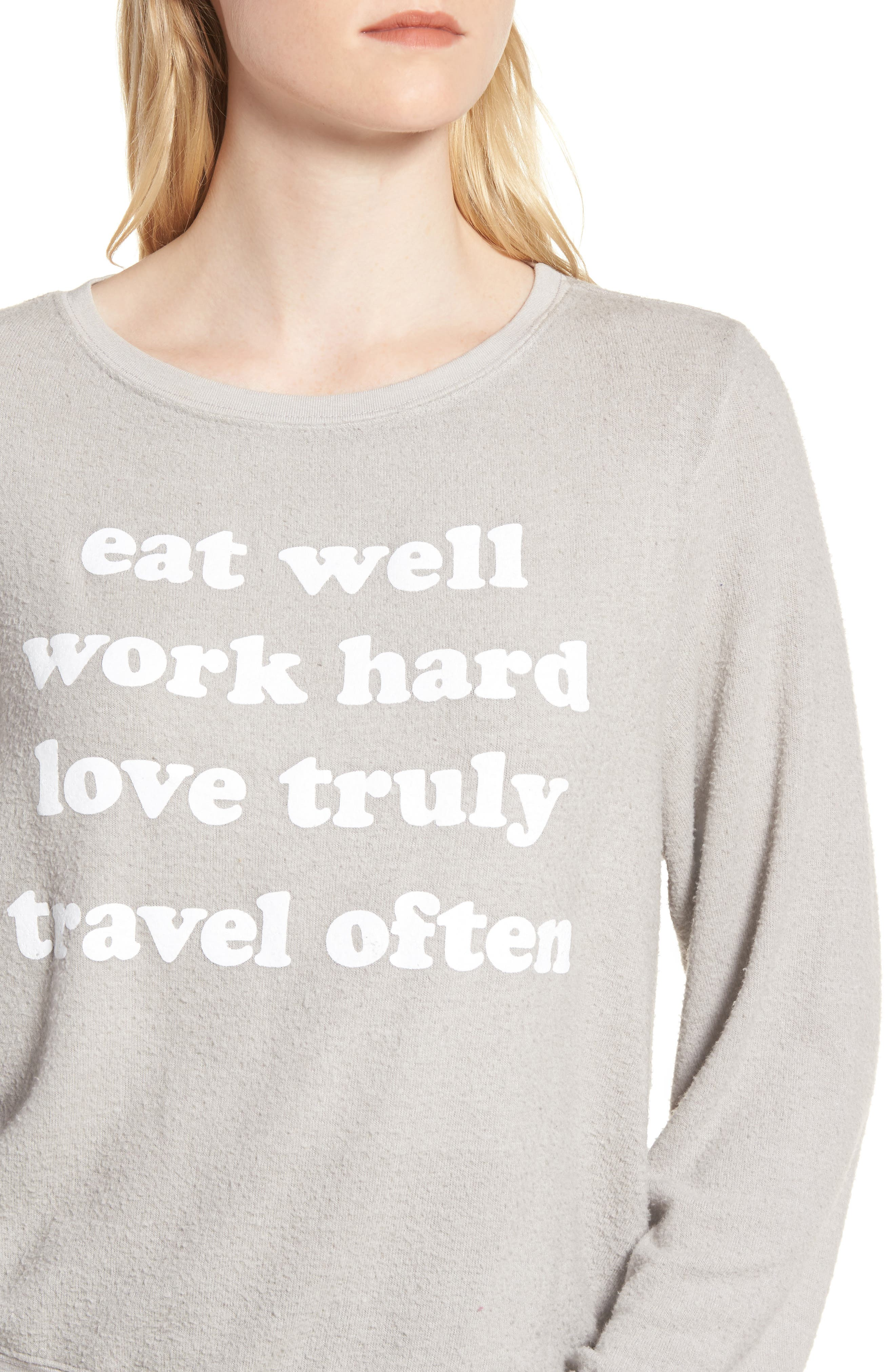 Alternate Image 4  - Dream Scene Eat Well Sweatshirt