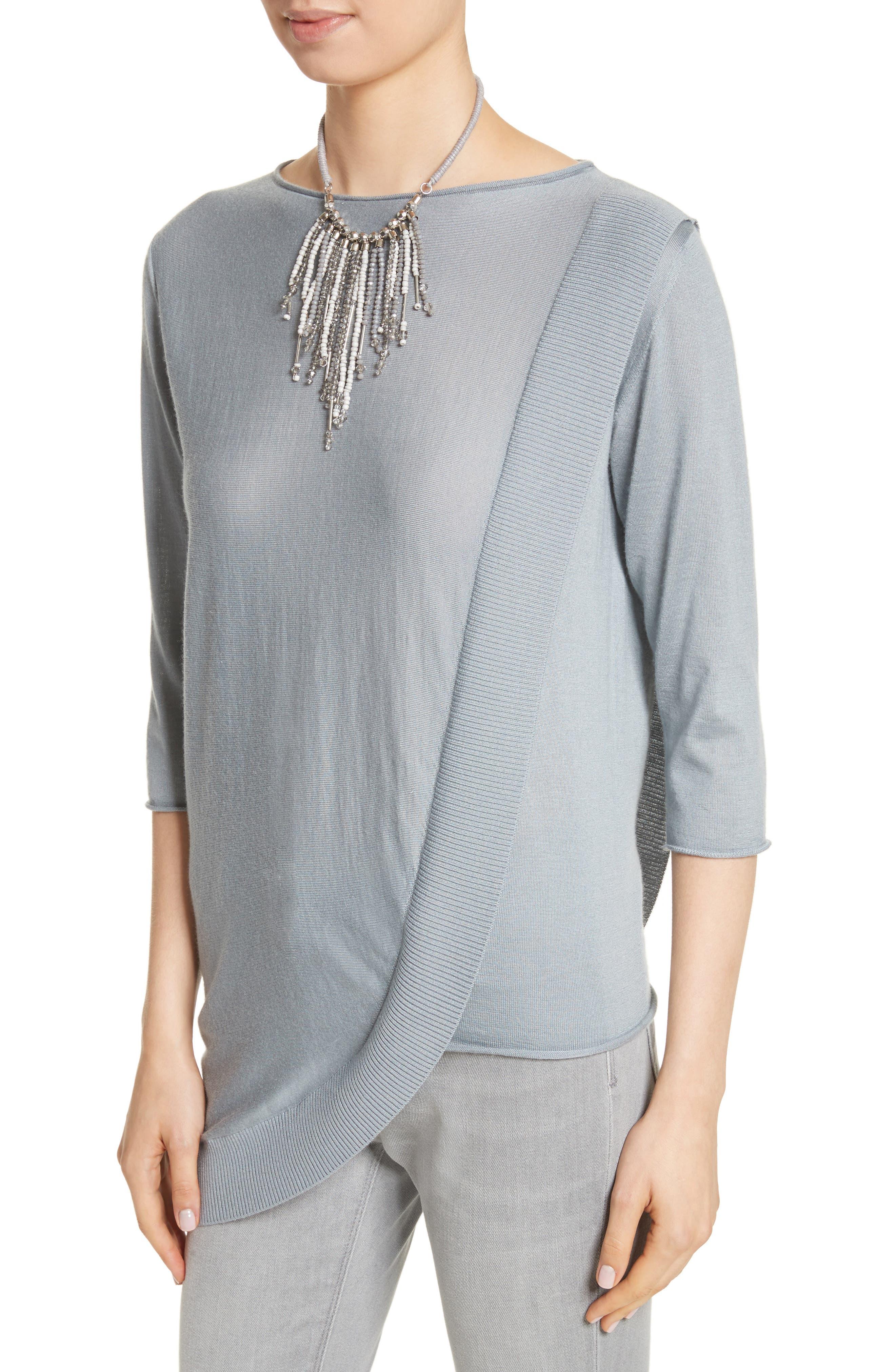 Alternate Image 4  - Fabiana Filippi Cashmere & Silk Drape Sweater