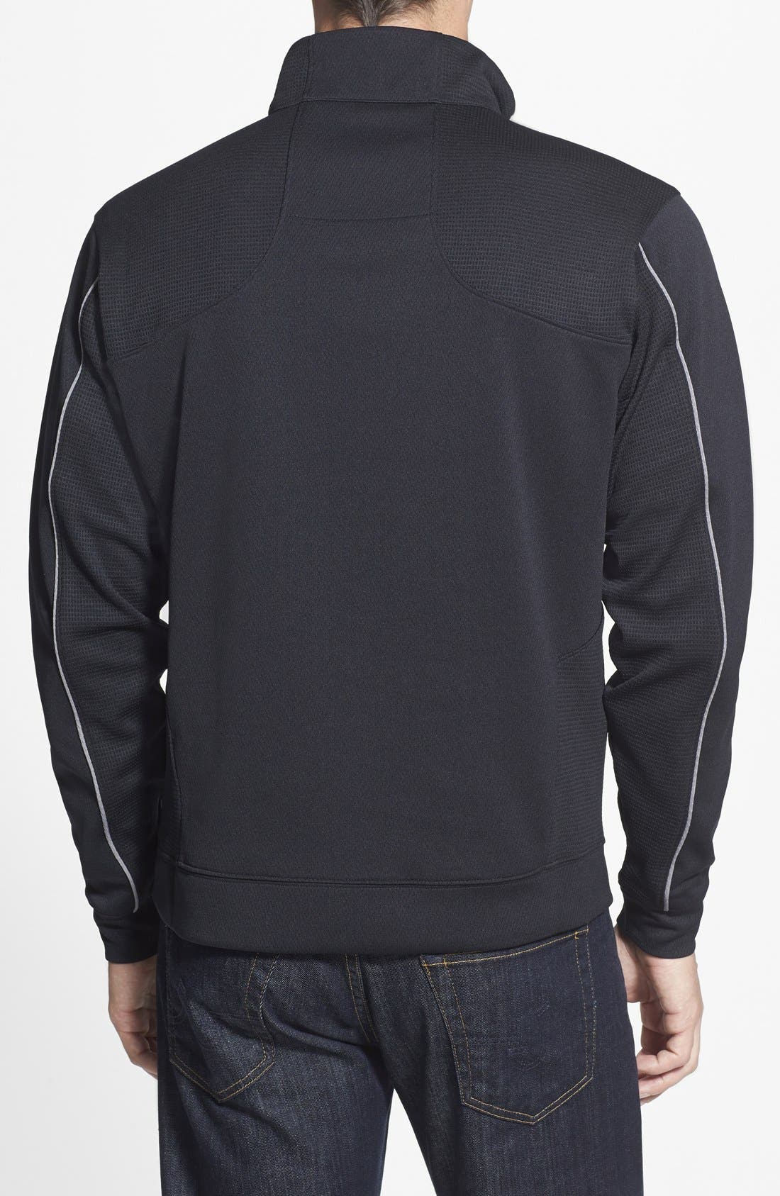 Alternate Image 2  - Cutter & Buck New York Jets - Edge DryTec Moisture Wicking Half Zip Pullover