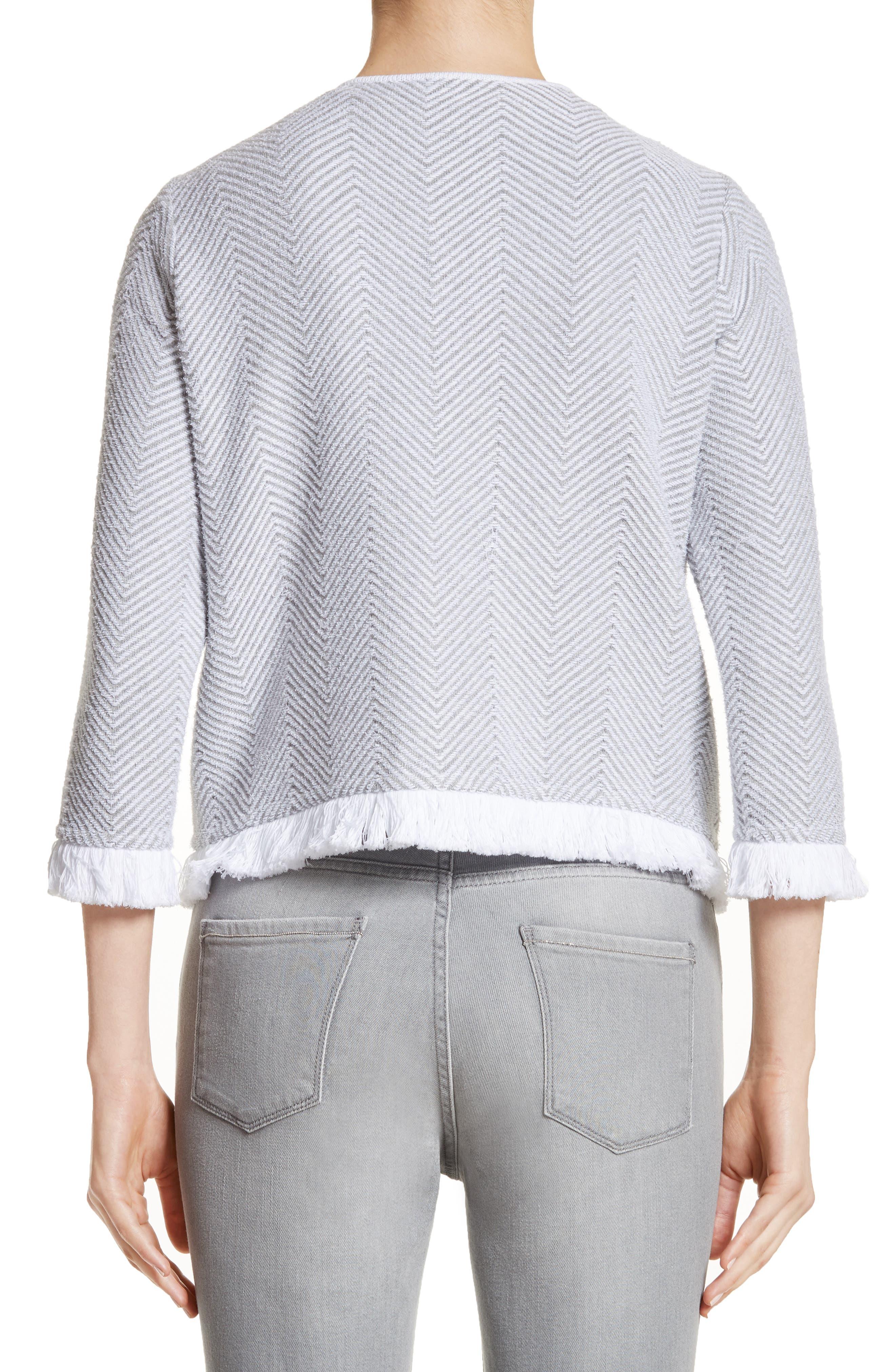 Alternate Image 2  - Fabiana Filippi Chevron Knit Jacket
