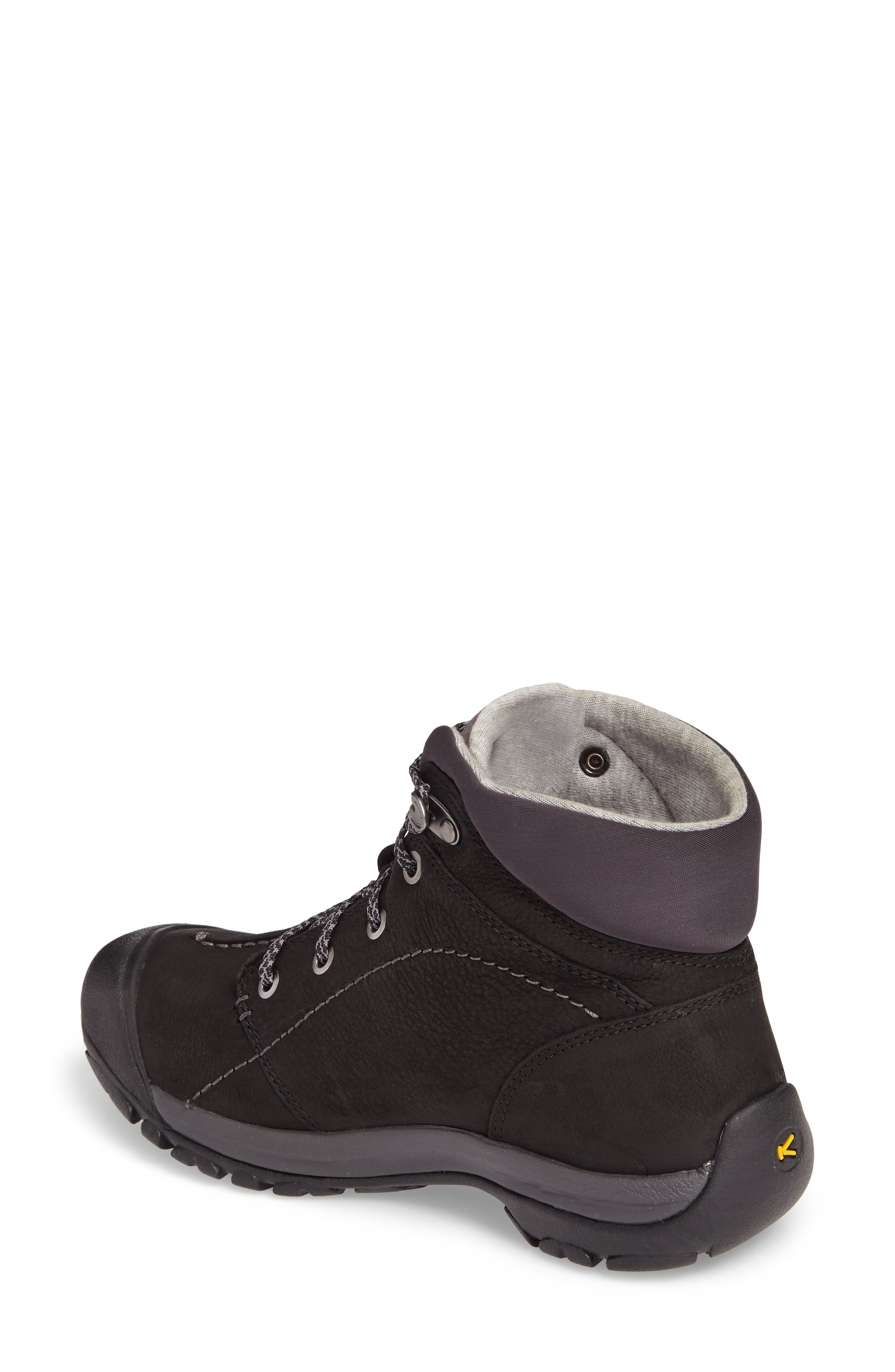 Kaci Waterproof Winter Boot,                             Alternate thumbnail 2, color,                             Black/ Magnet Leather