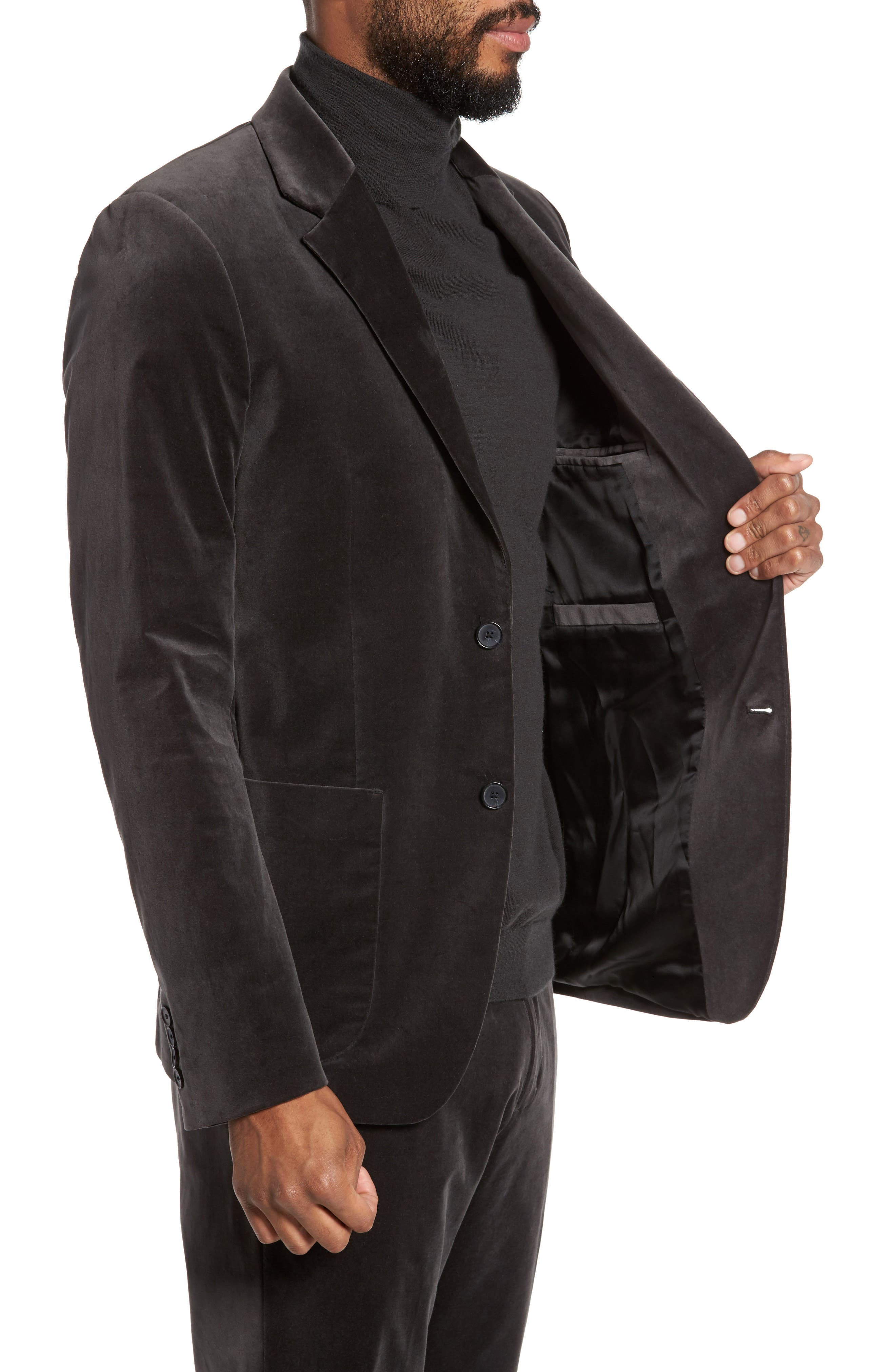 Alternate Image 3  - Vince Velvet Patch Pocket Blazer