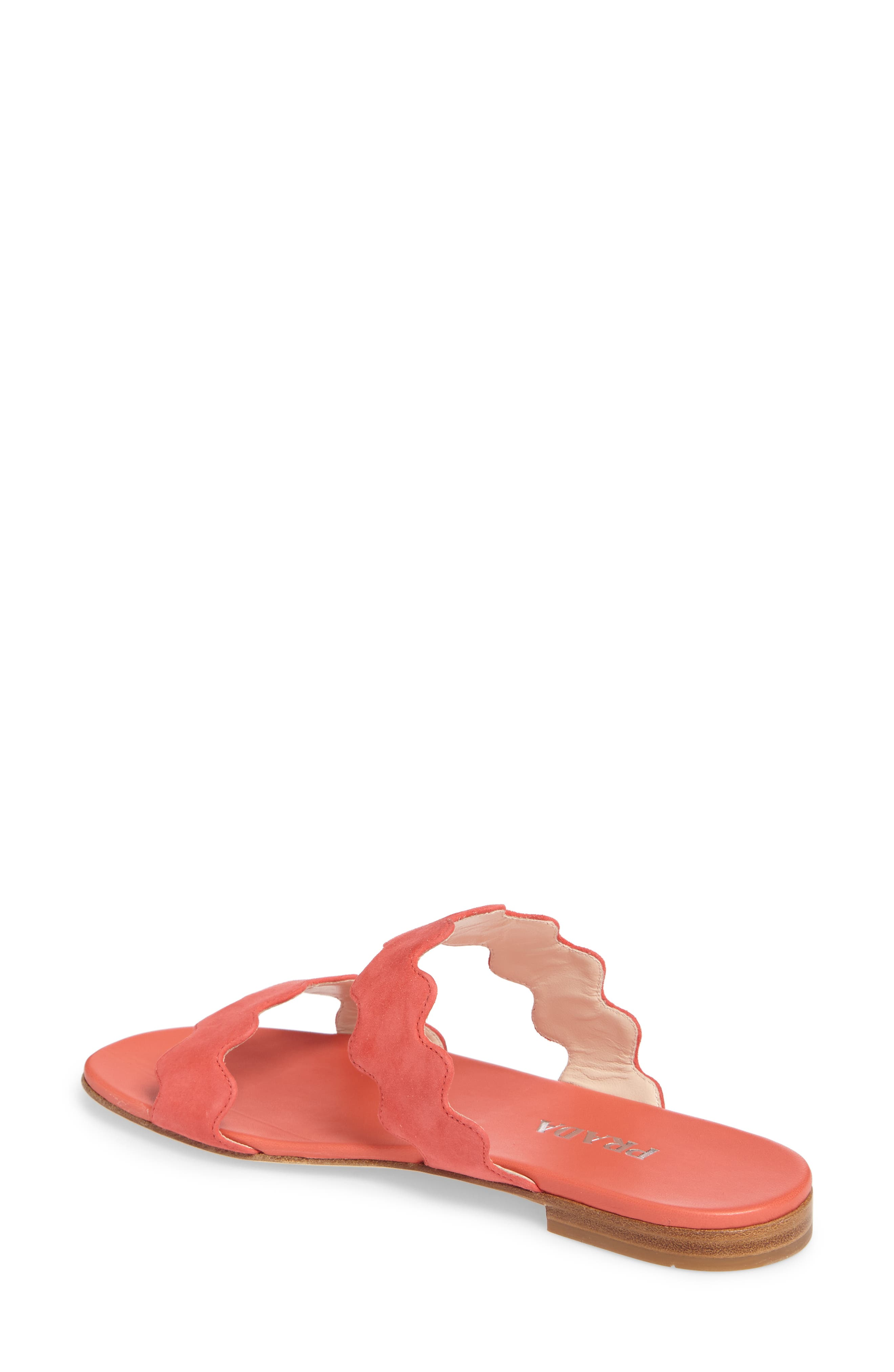 Double Strap Wave Sandal,                             Alternate thumbnail 2, color,                             Corallo