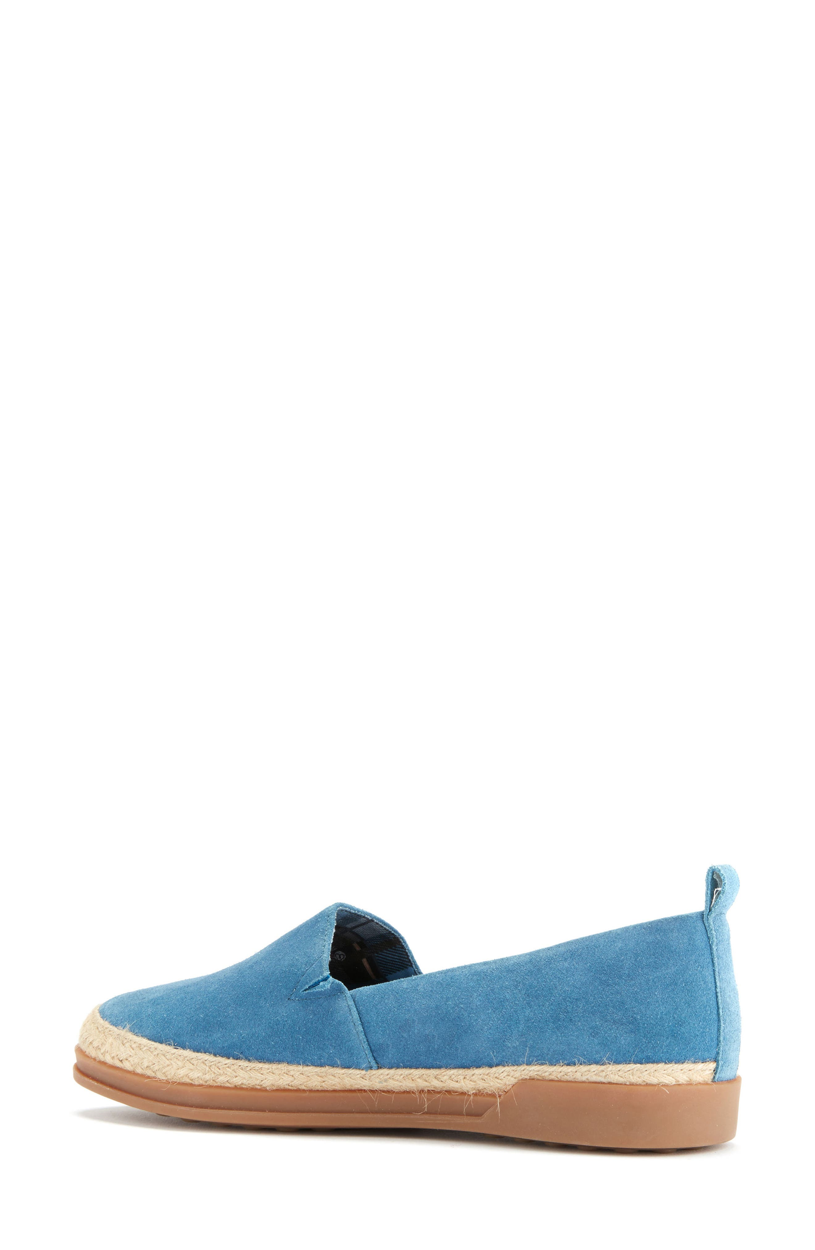 Bailey Espadrille Flat,                             Alternate thumbnail 2, color,                             Blue Suede