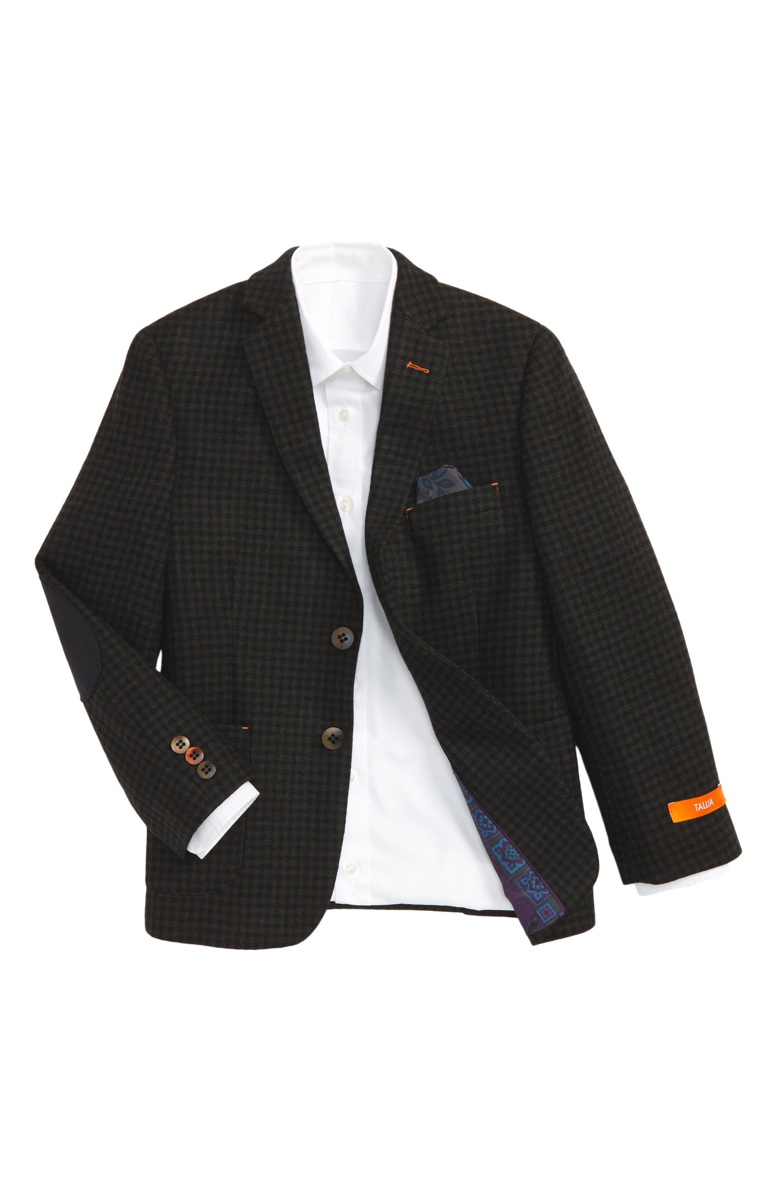 Main Image - Tallia Herringbone Wool Sport Coat (Big Boys)