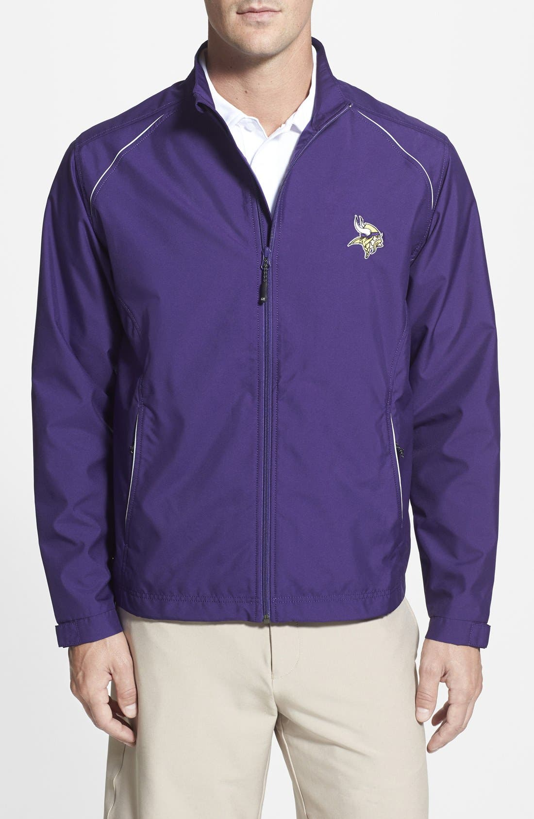 Alternate Image 1 Selected - Cutter & Buck Minnesota Vikings - Beacon WeatherTec Wind & Water Resistant Jacket