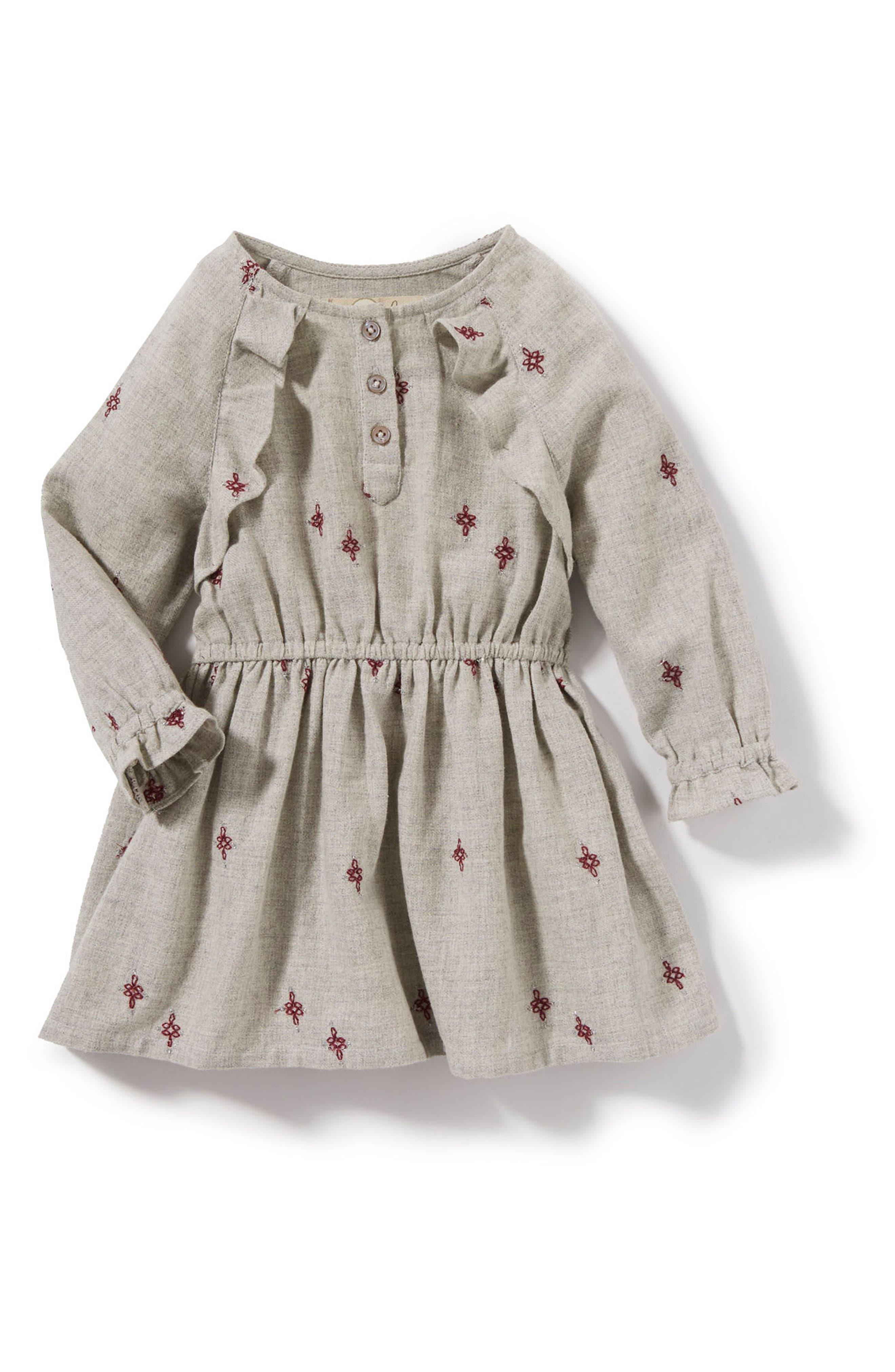 Alternate Image 1 Selected - Peek Janie Dress (Baby Girls)