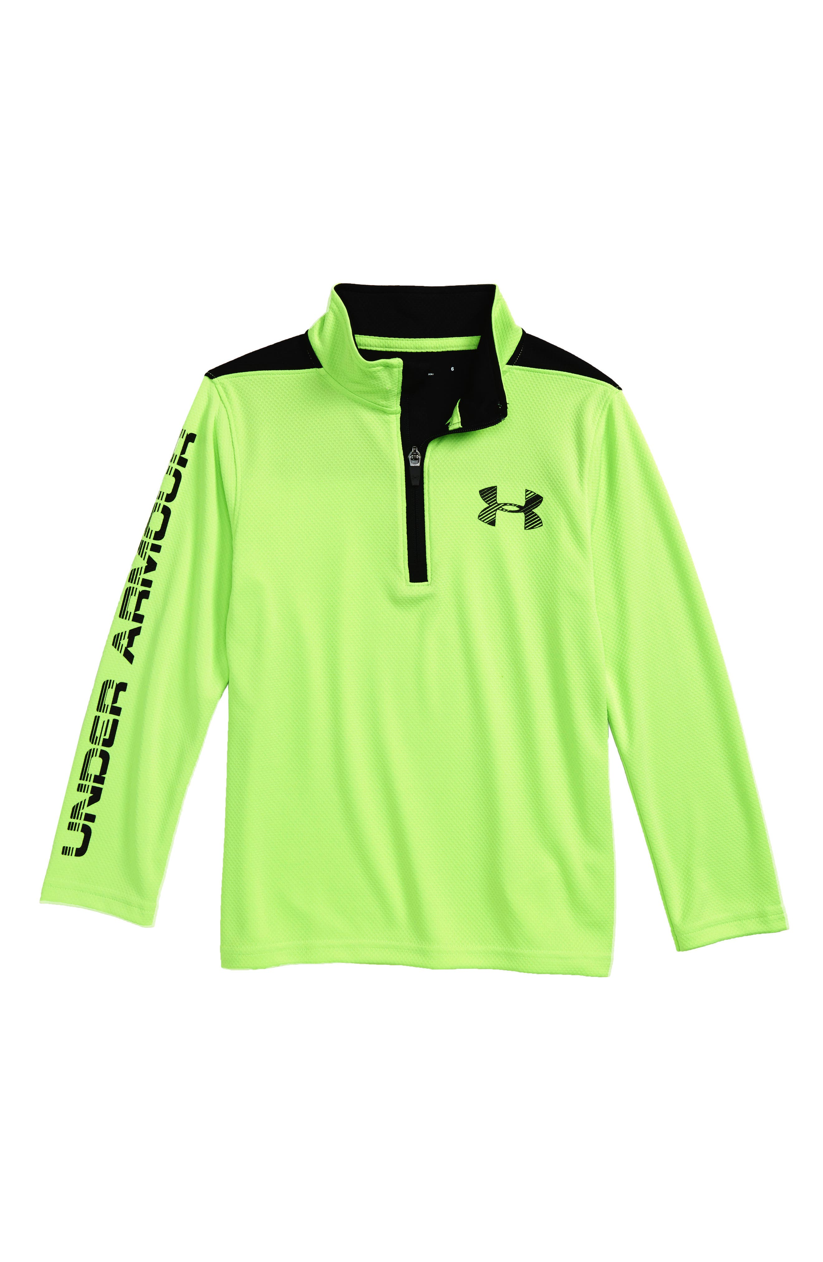 Alternate Image 1 Selected - Under Armour Longevity Quarter Zip Top (Toddler Boys & Little Boys)