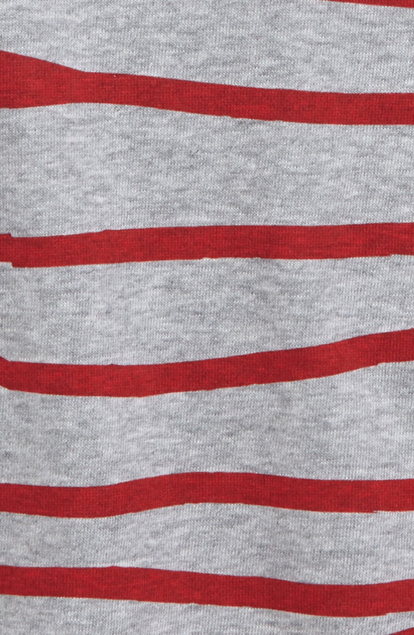 Stripe Shirt,                             Alternate thumbnail 2, color,                             Grey Marle/ Red