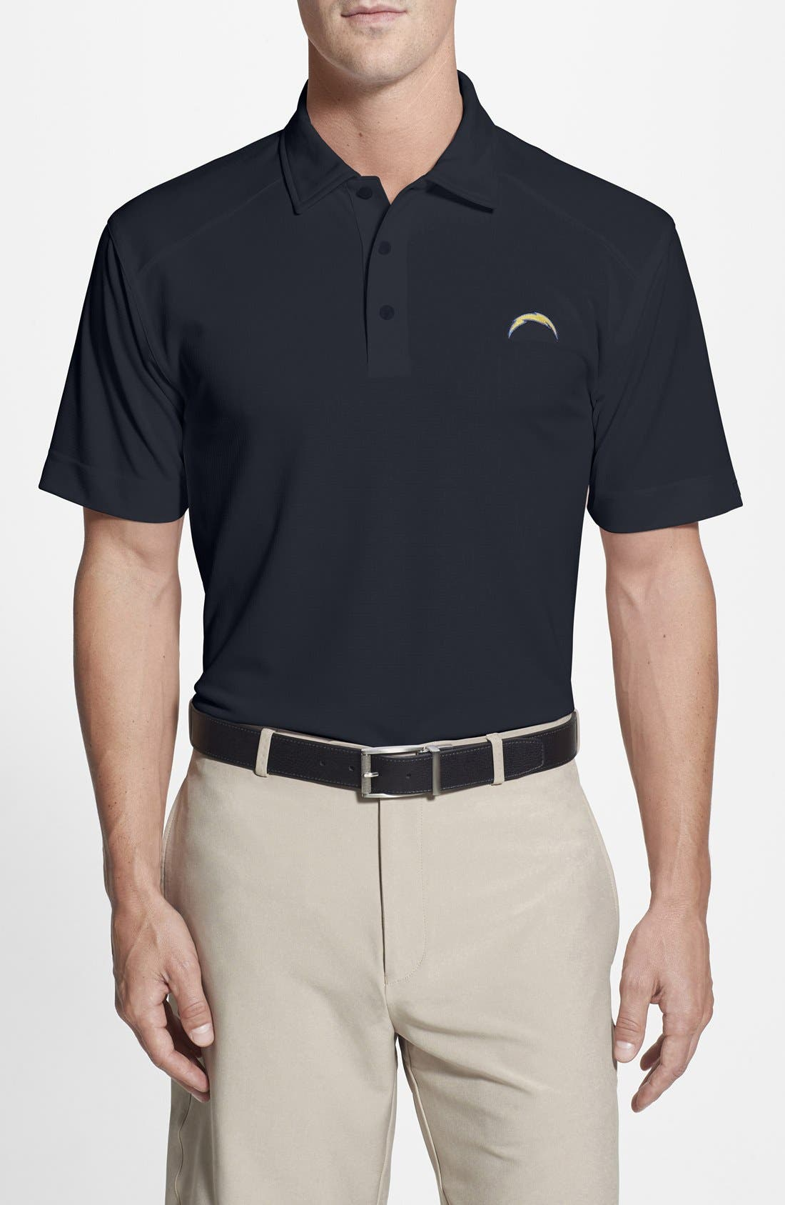 San Diego Chargers - Genre DryTec Moisture Wicking Polo,                             Main thumbnail 1, color,                             Navy Blue