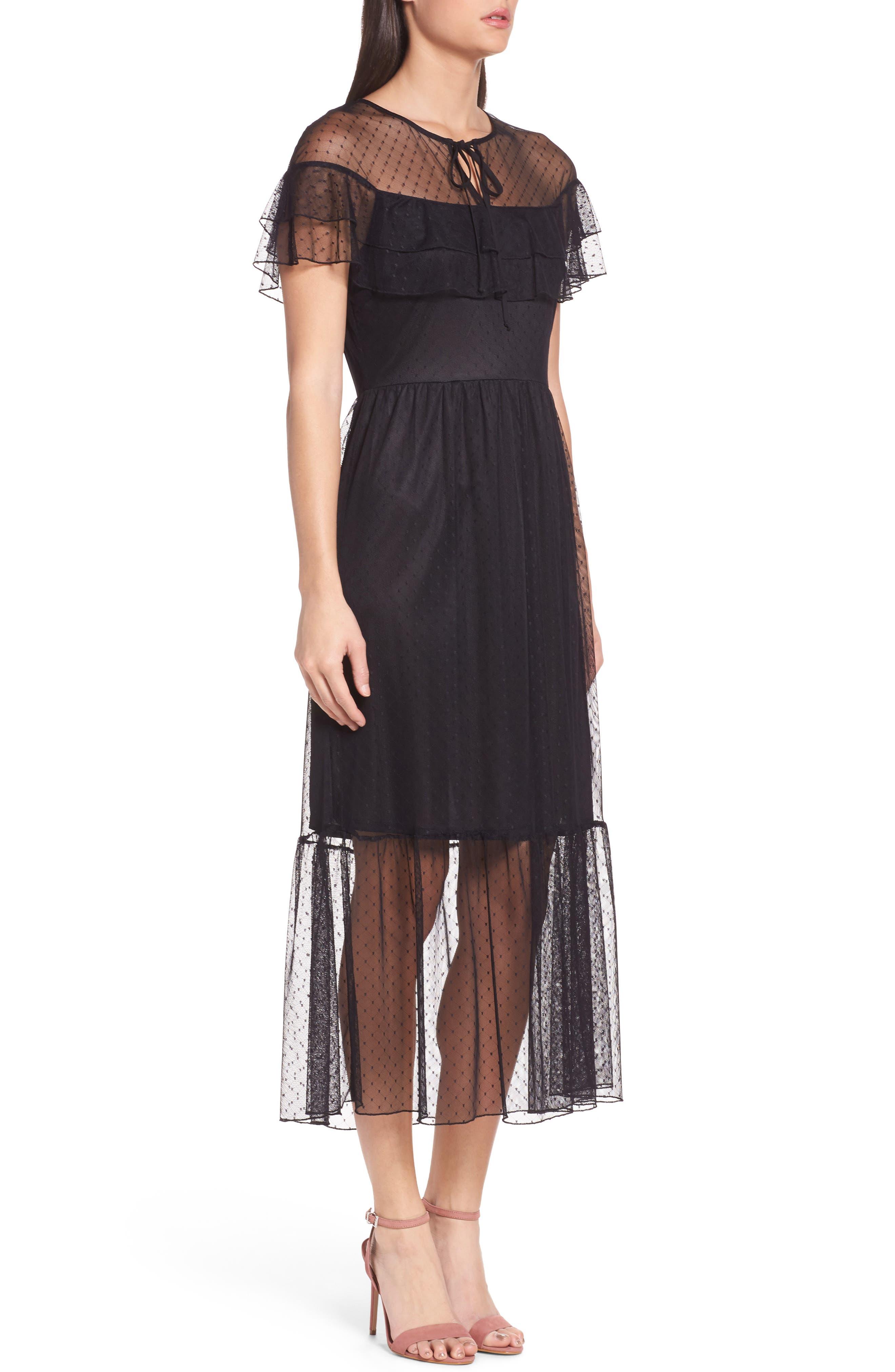 Alternate Image 3  - NSR Lace Midi Dress