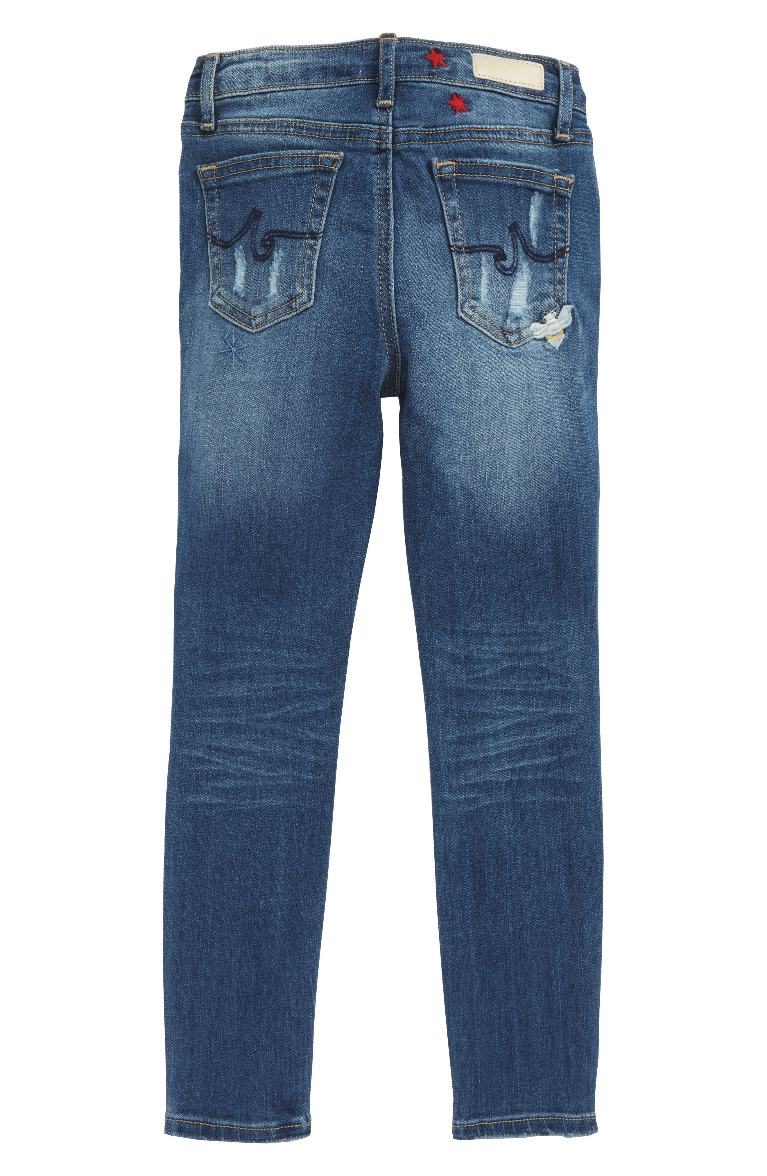 The Ella Super Skinny Jeans,                             Alternate thumbnail 2, color,                             Bluebell