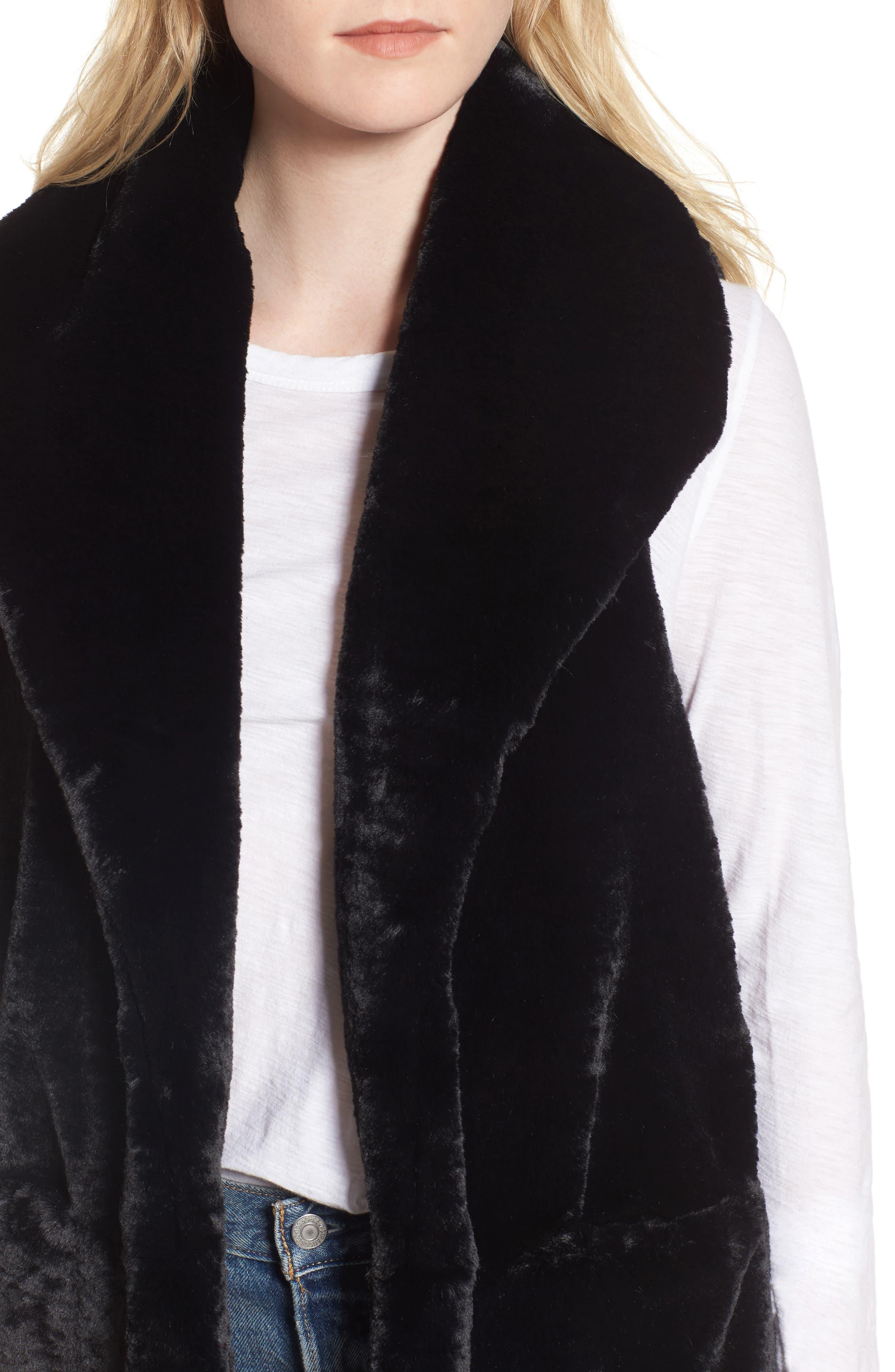 Alternate Image 4  - Heurueh Heather Faux Mink Fur Vest