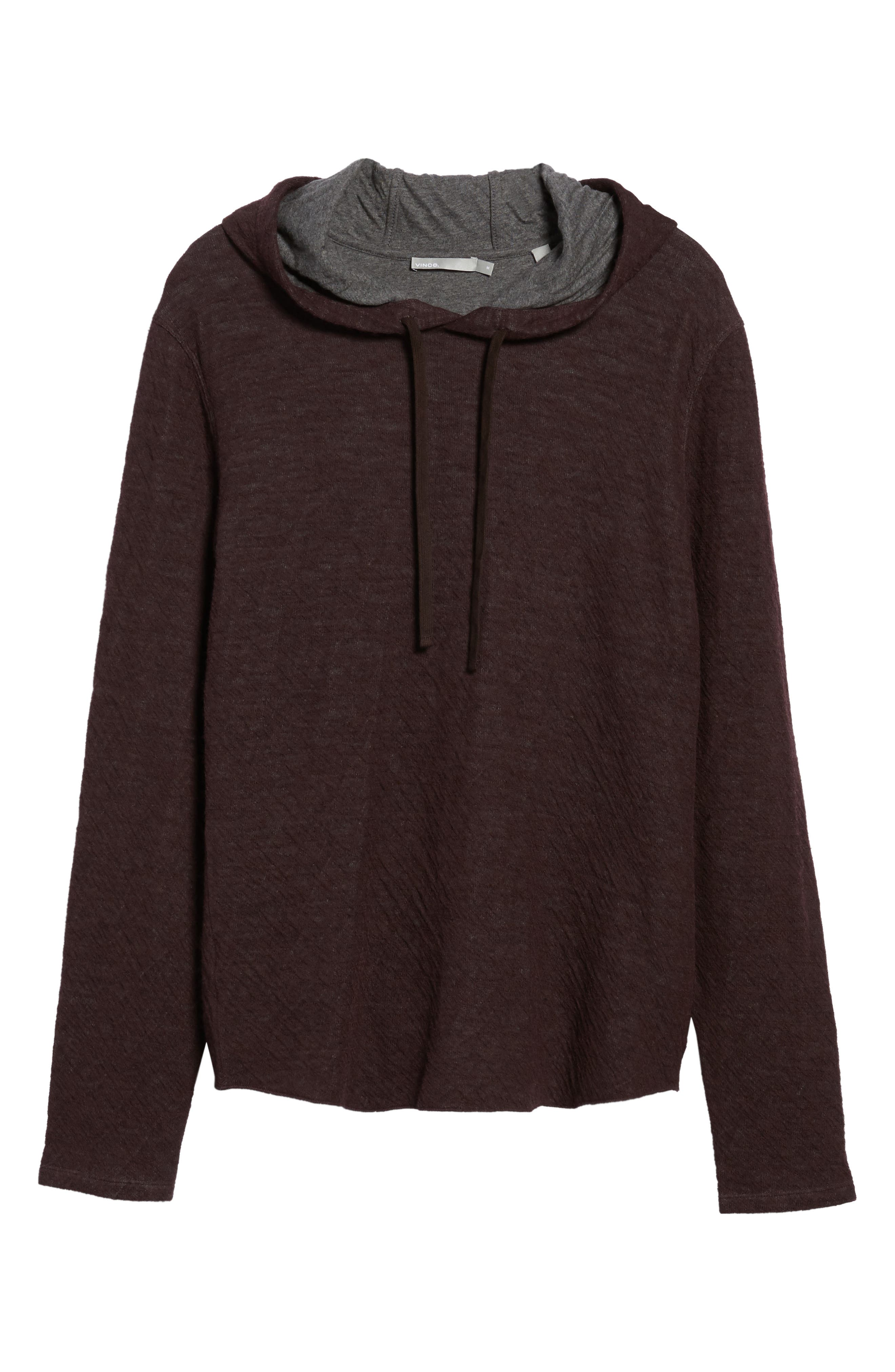 Alternate Image 6  - Vince Contrast Double Knit Cotton & Wool Hoodie