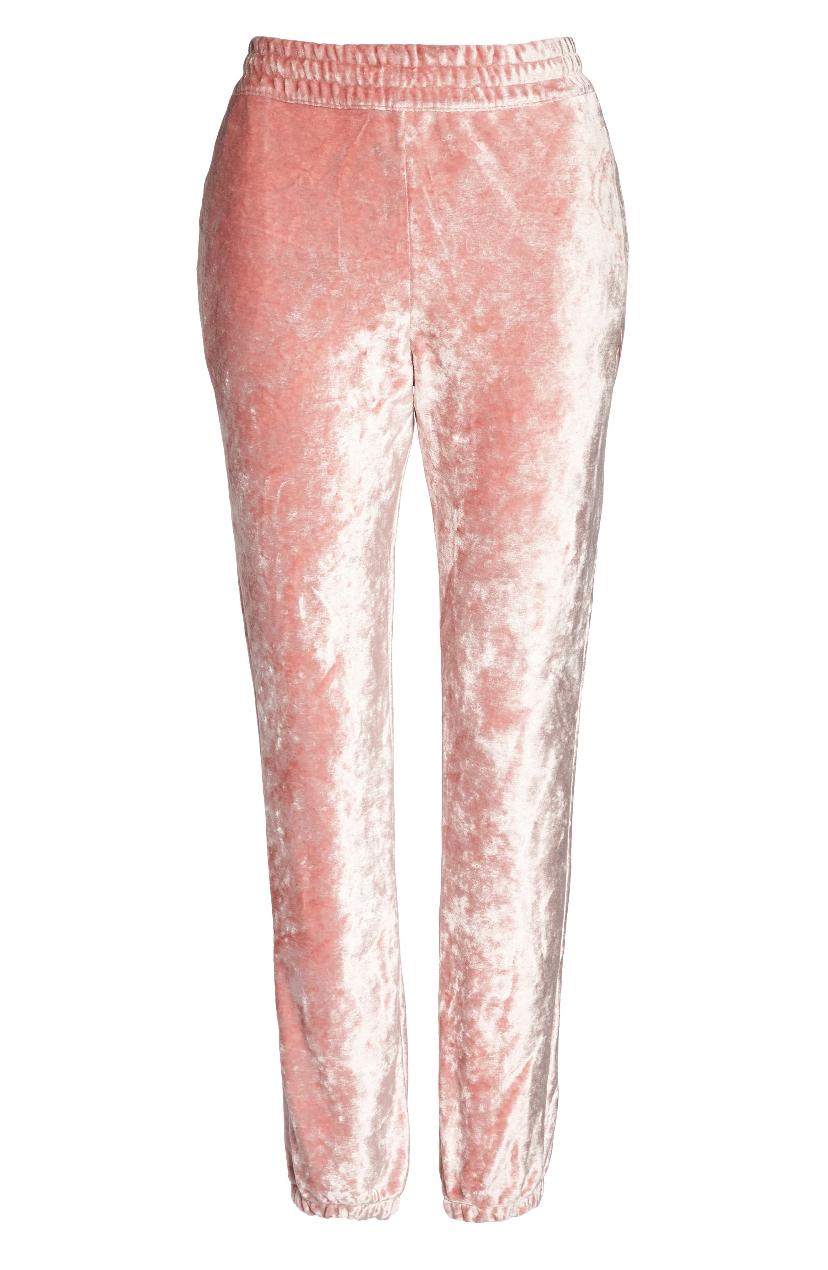 NikeLab Essentials Women's Velour Pants,                             Alternate thumbnail 6, color,                             Rust Pink