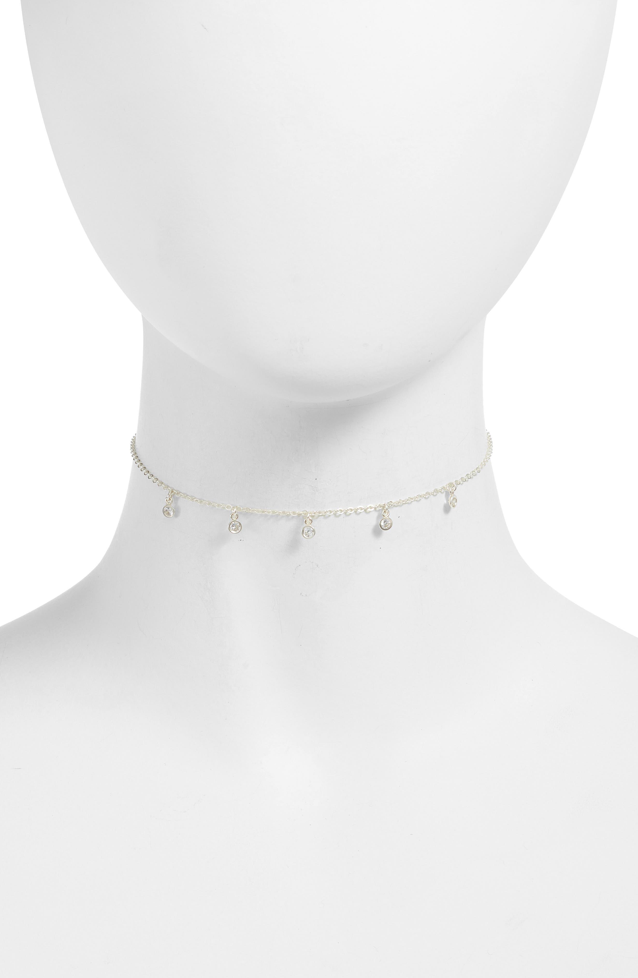 Alternate Image 2  - Dogeared Starry String Lights Choker Necklace