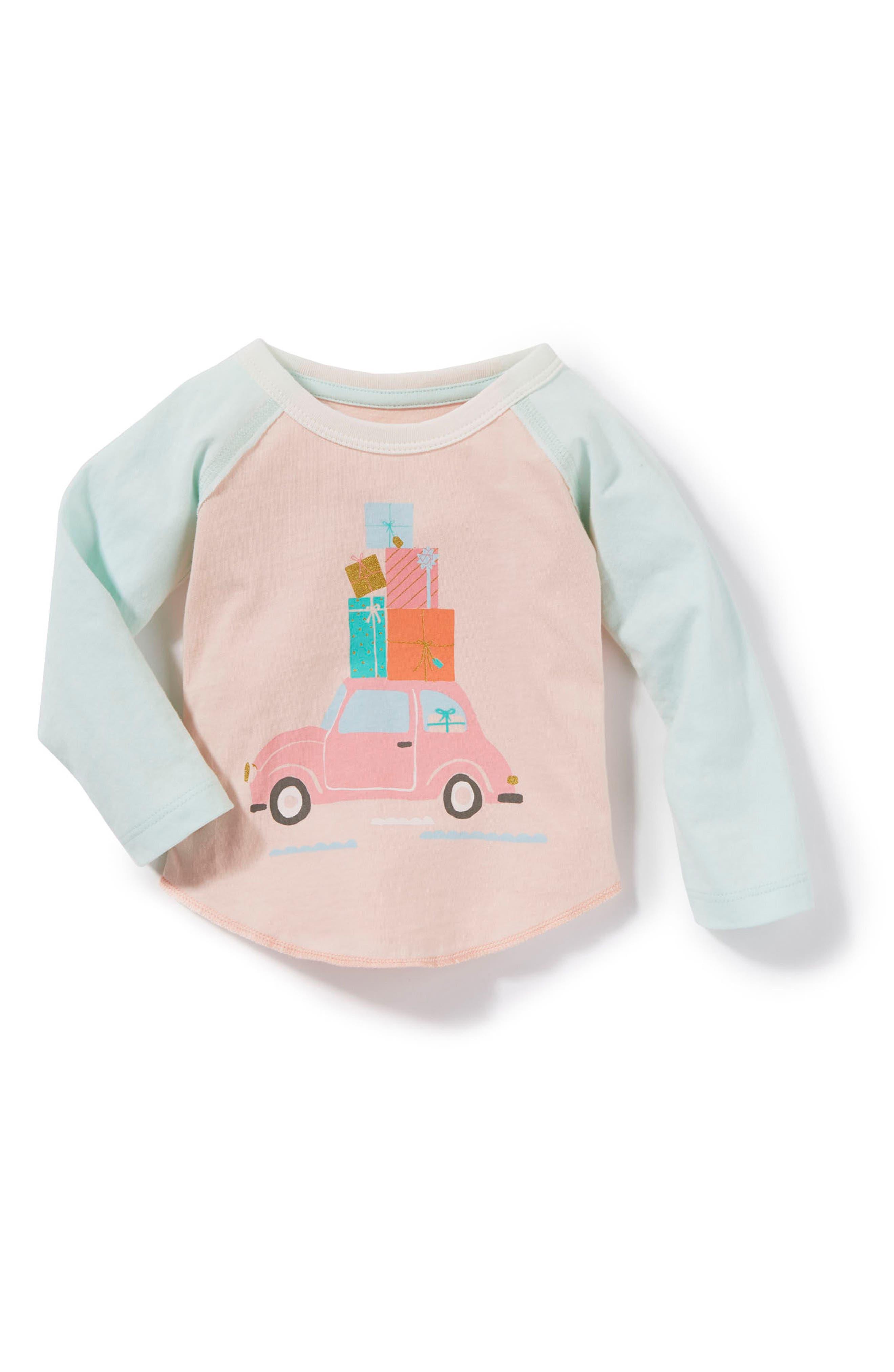 Main Image - Peek Car & Presents Graphic Tee (Baby Girls)