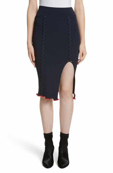 Opening Ceremony Criss Cross Pencil Skirt