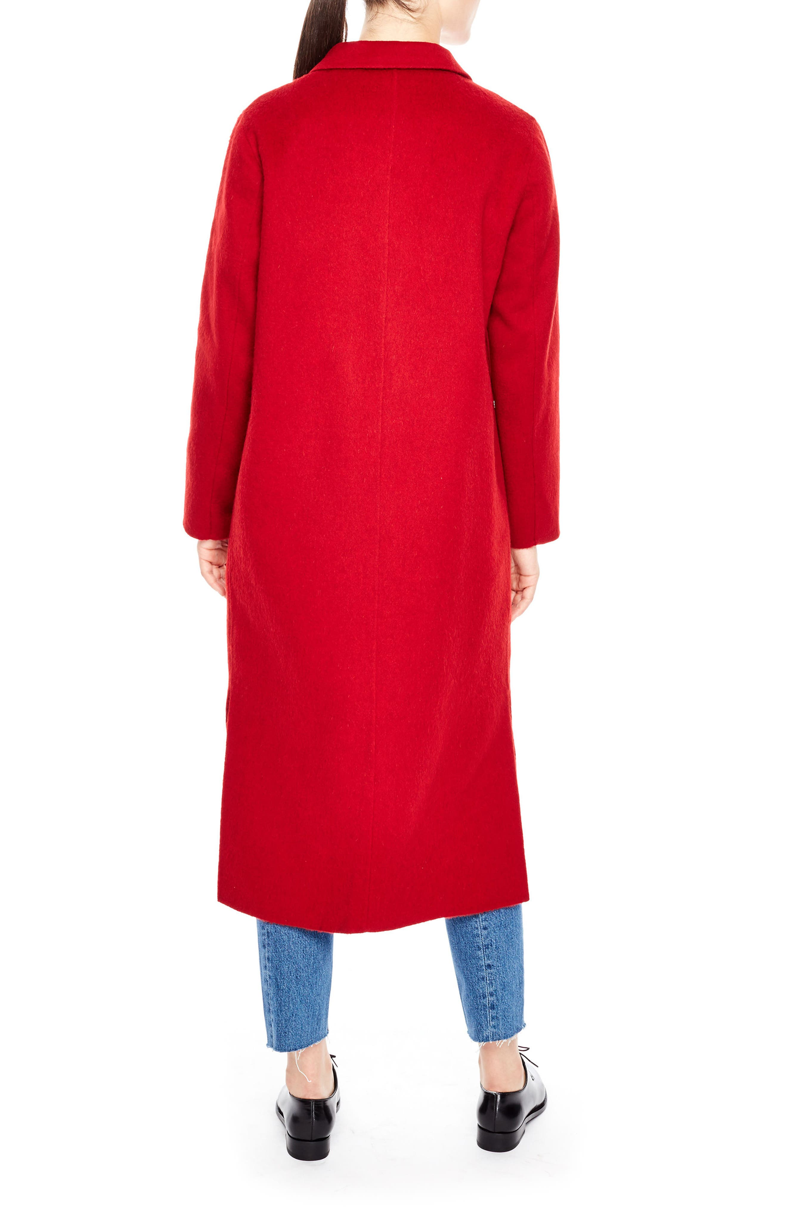 Alternate Image 2  - sandro Long Wool Coat