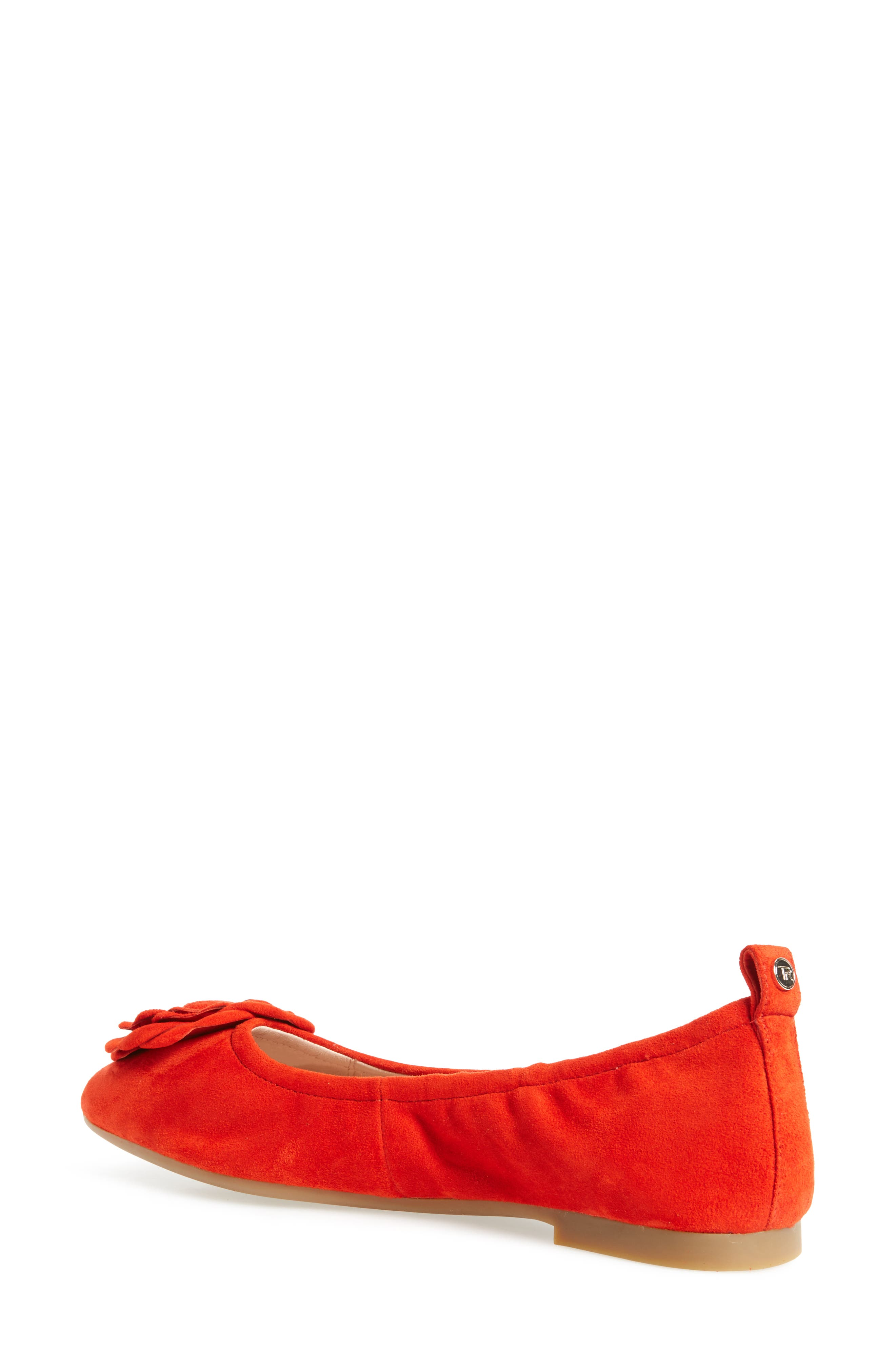 Rosalyn Ballet Flat,                             Alternate thumbnail 6, color,                             Spicy Suede