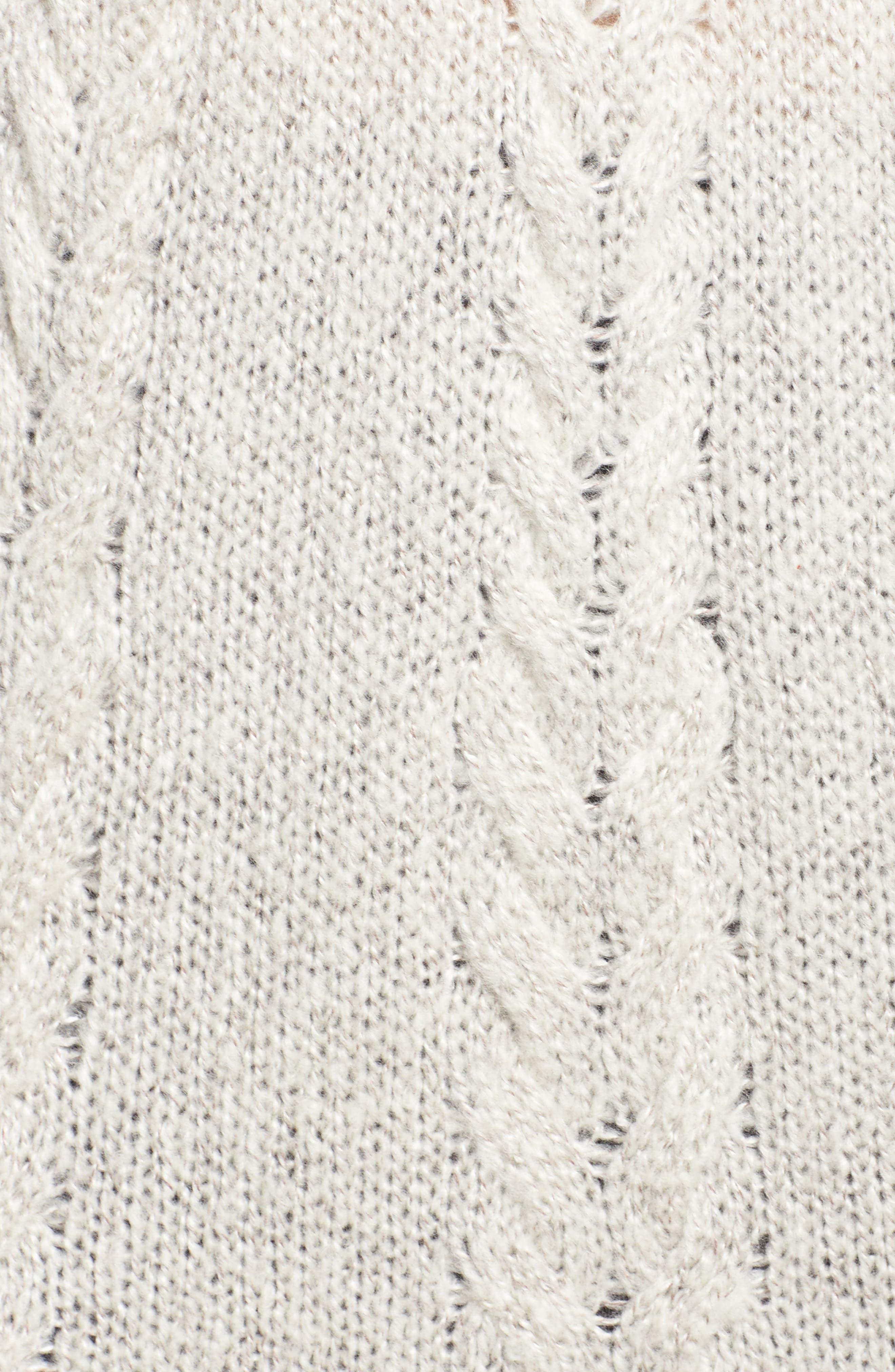 Alternate Image 6  - Caslon® Cable Knit Tunic Sweater (Plus Size)