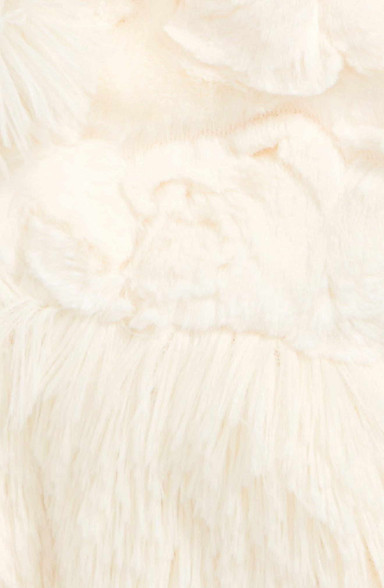 Faux Fur Peplum Vest,                             Alternate thumbnail 2, color,                             Cream Cloud