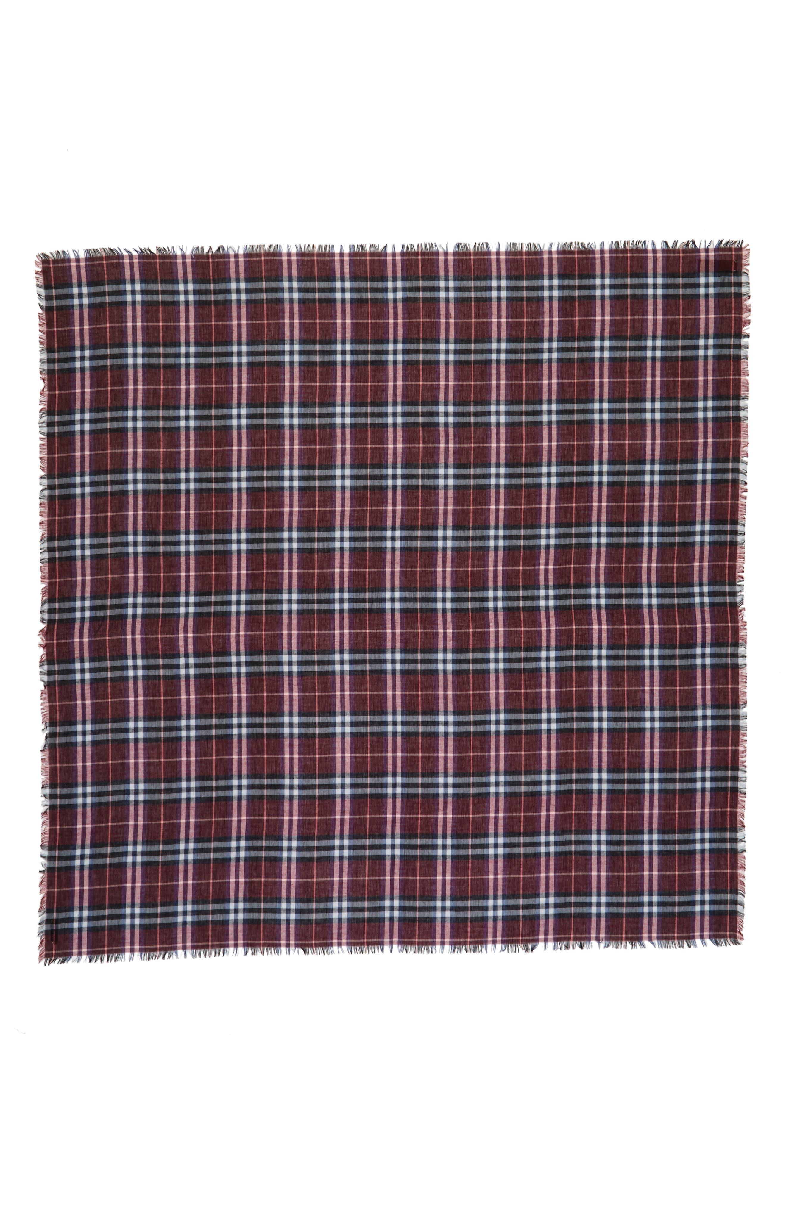 Burberry Castleford Check Wool & Modal Scarf