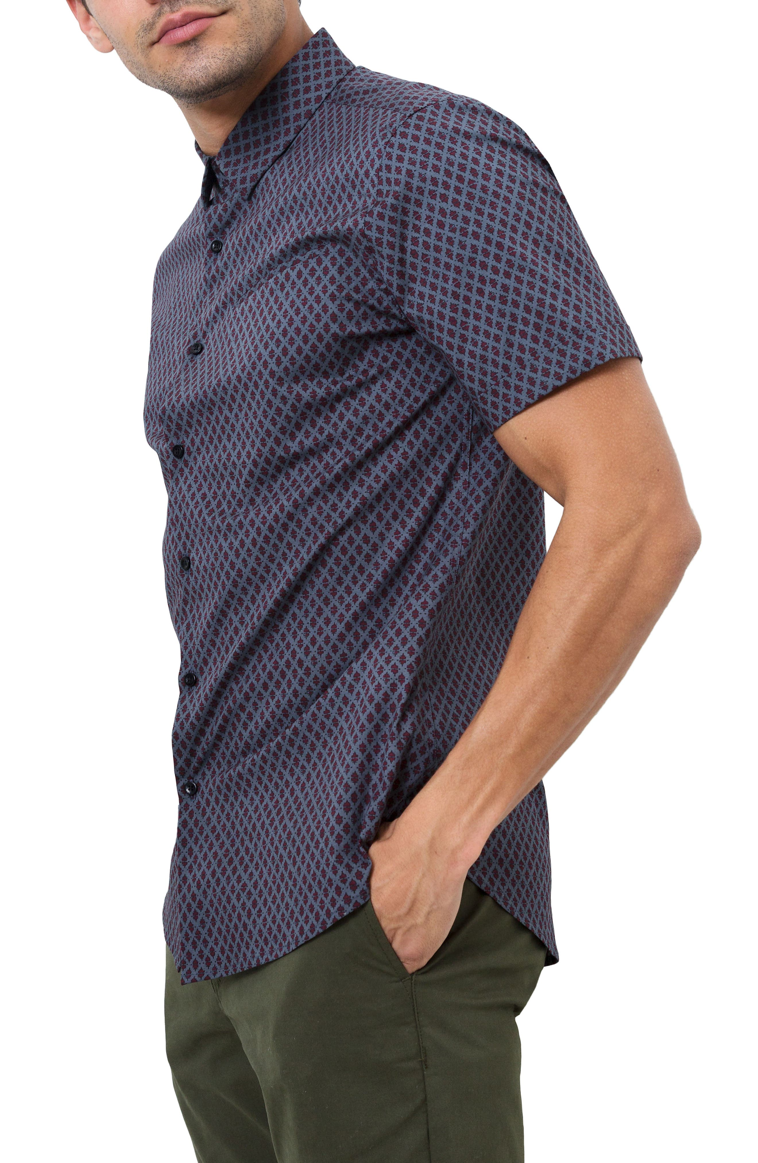 Dancing Mood Woven Shirt,                             Alternate thumbnail 3, color,                             Navy