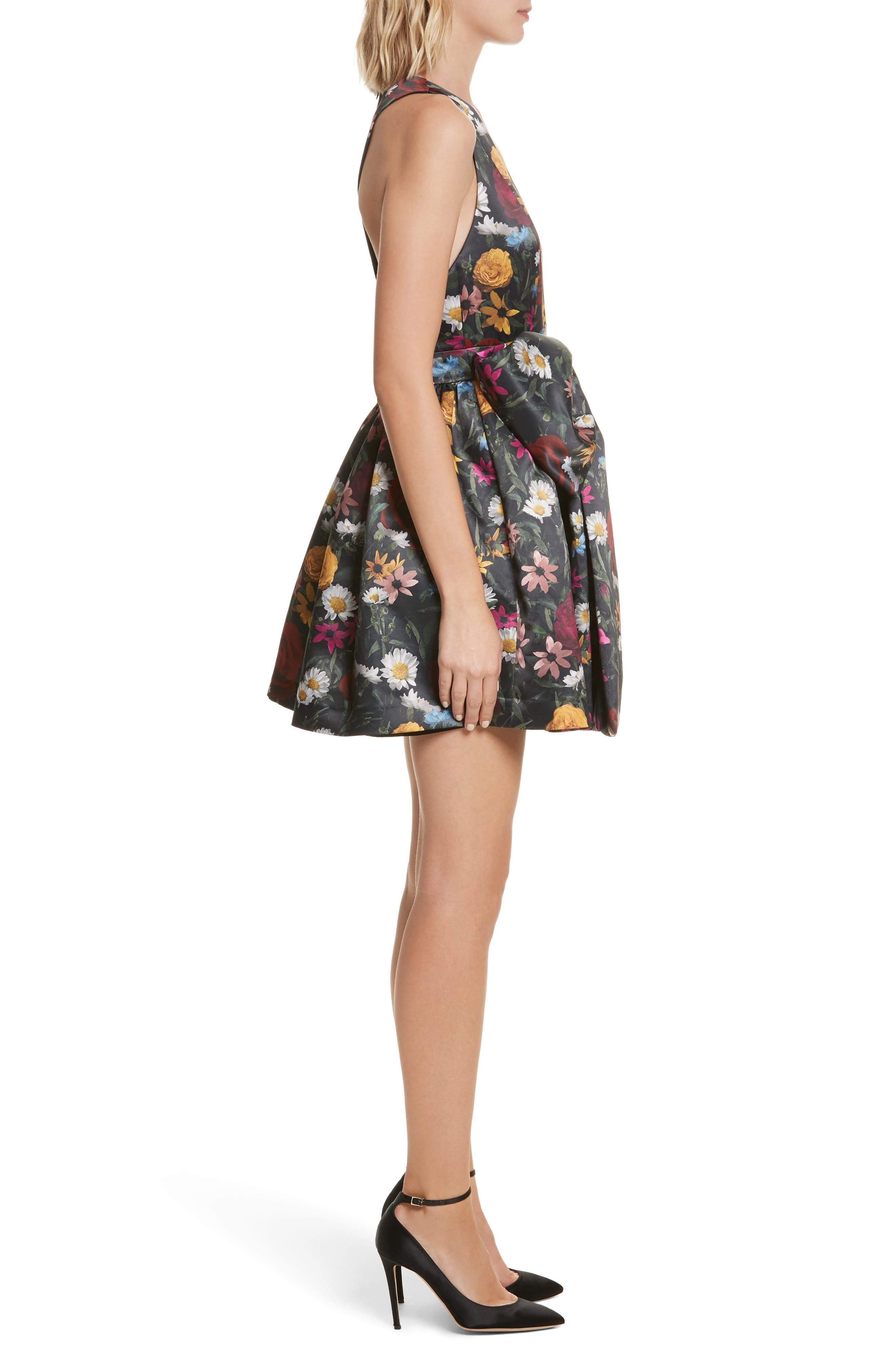 Alternate Image 3  - Alice + Olivia Daralee Bow Front Party Dress