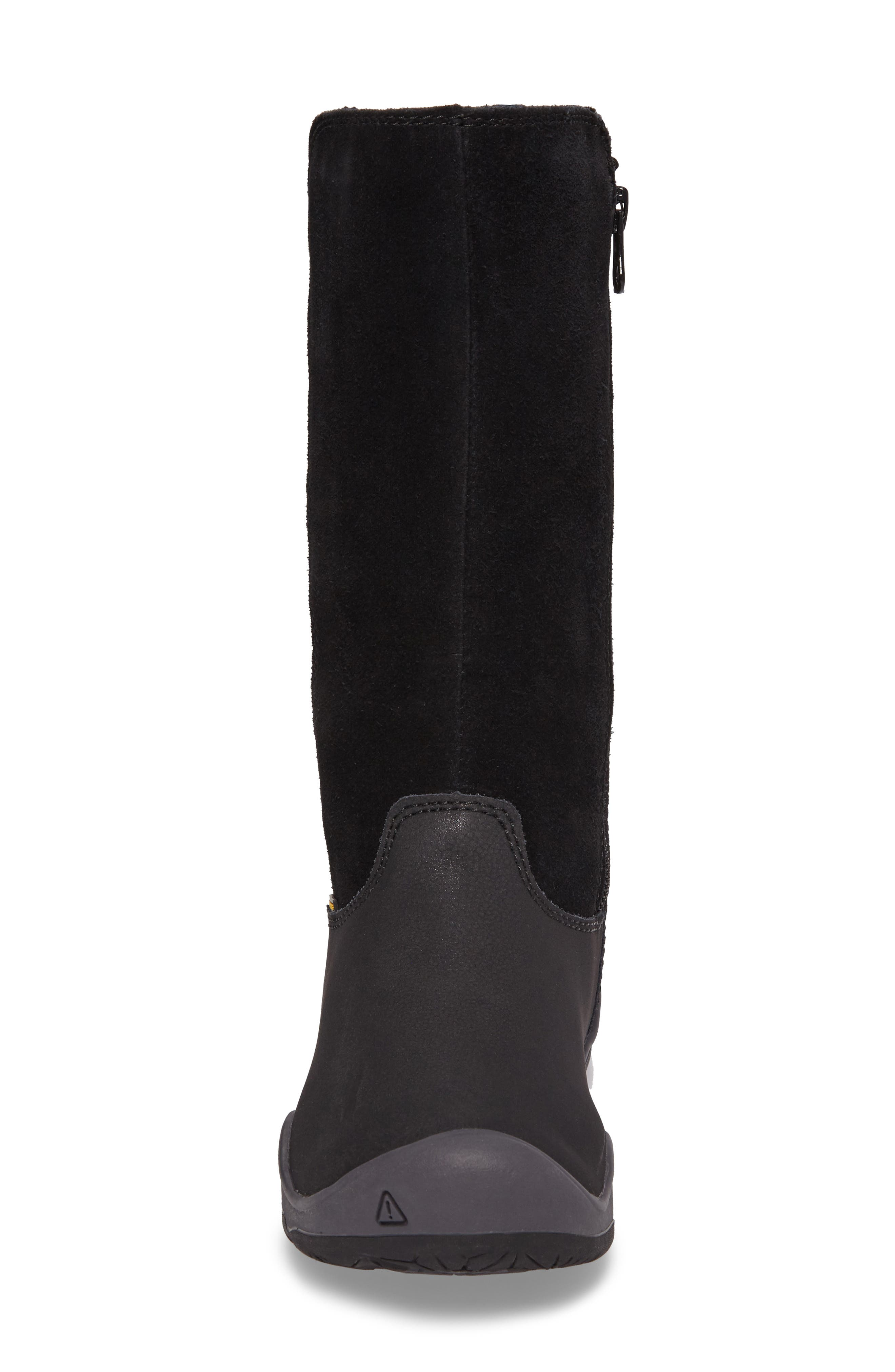 Moxie Tall Waterproof Boot,                             Alternate thumbnail 4, color,                             Black/ Magnet