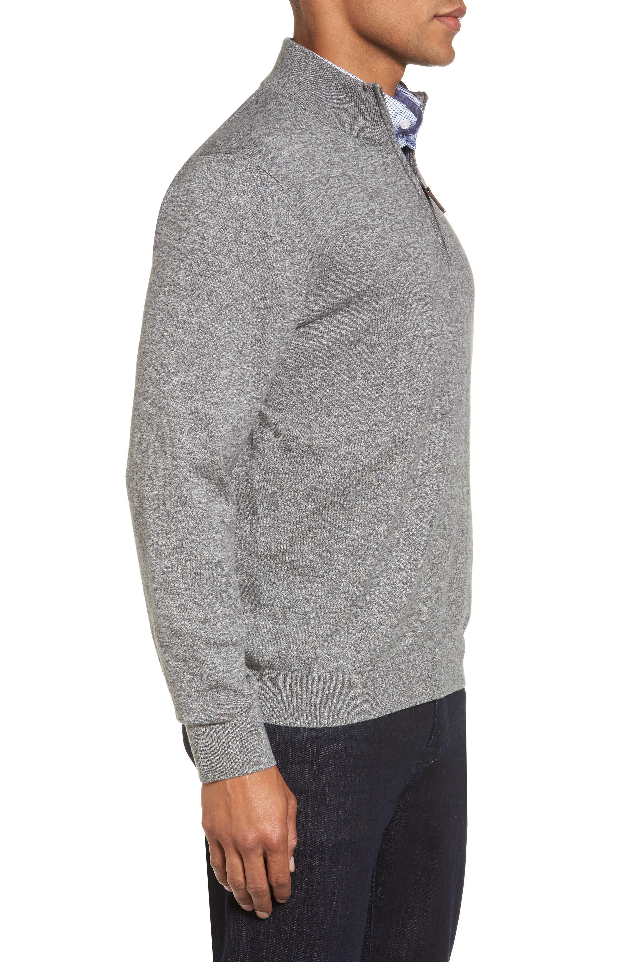 Alternate Image 3  - Nordstrom Men's Shop Quarter Zip Sweater (Big)