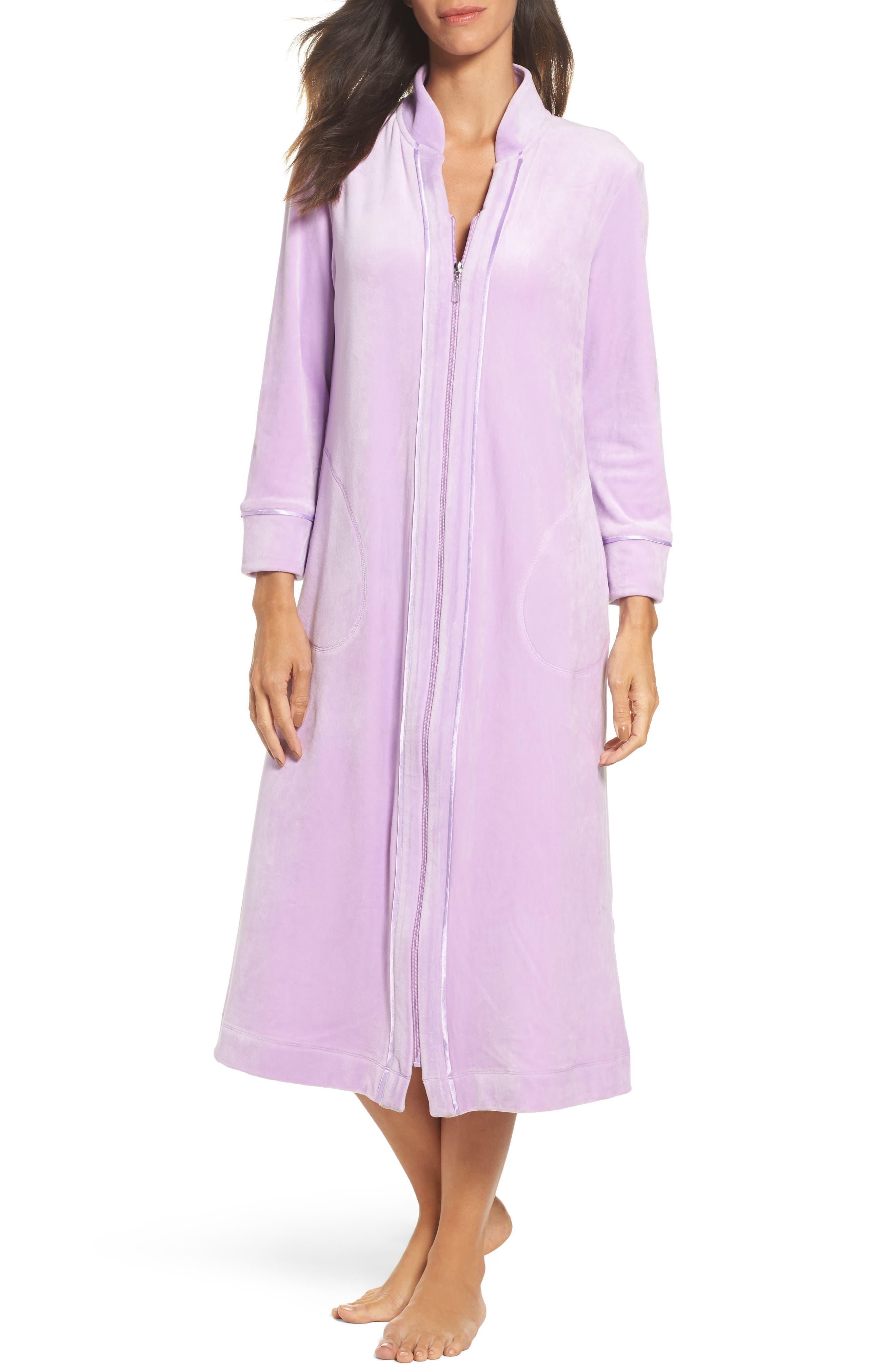 Carole Hochman Velour Zip Robe