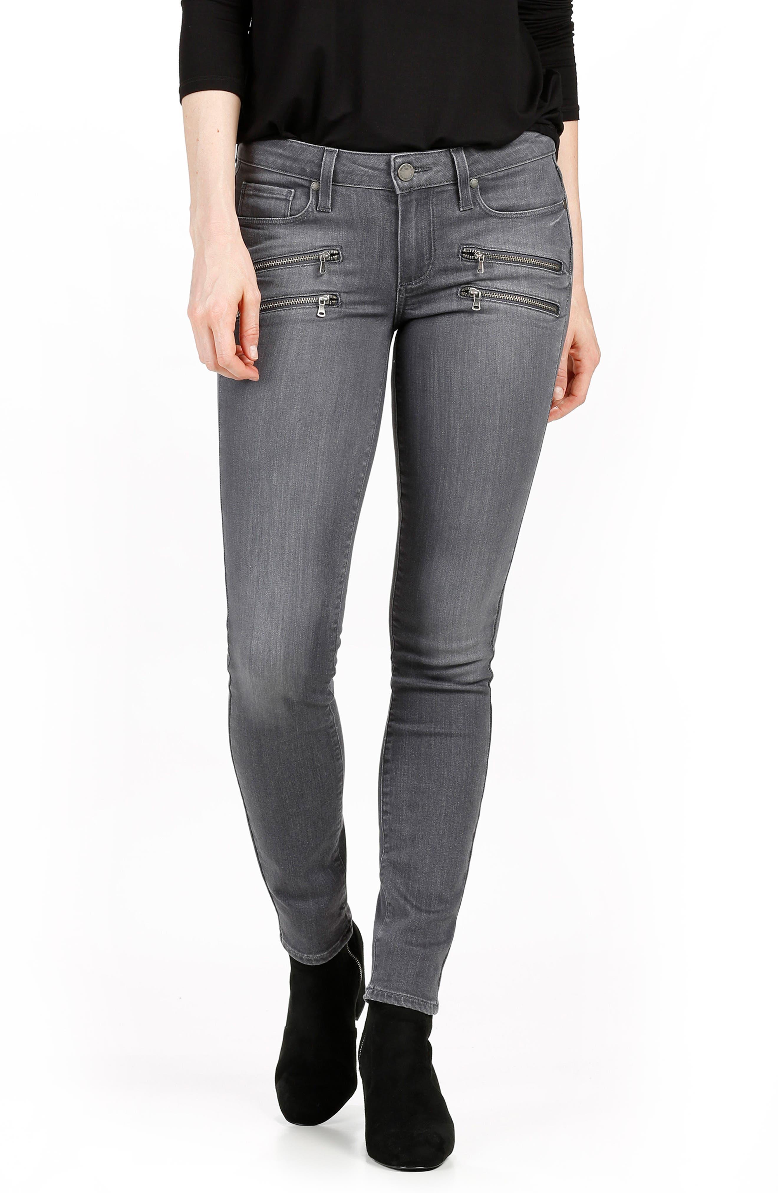 PAIGE Transcend - Edgemont Ultra Skinny Jeans (Watson Grey)