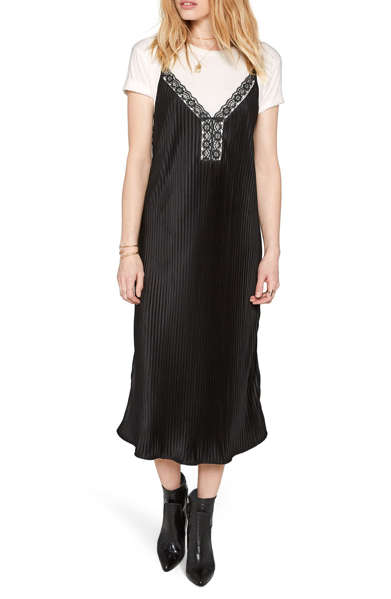 Sweet Surrender Slipdress,                             Main thumbnail 1, color,                             Black