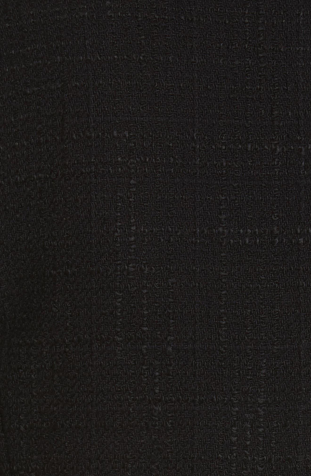 Textured Tweed Jacket,                             Alternate thumbnail 6, color,                             Black