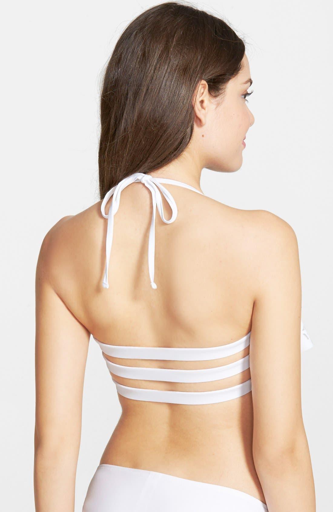 Alternate Image 2  - BP. Dye Cut Halter Bikini Top (Juniors)