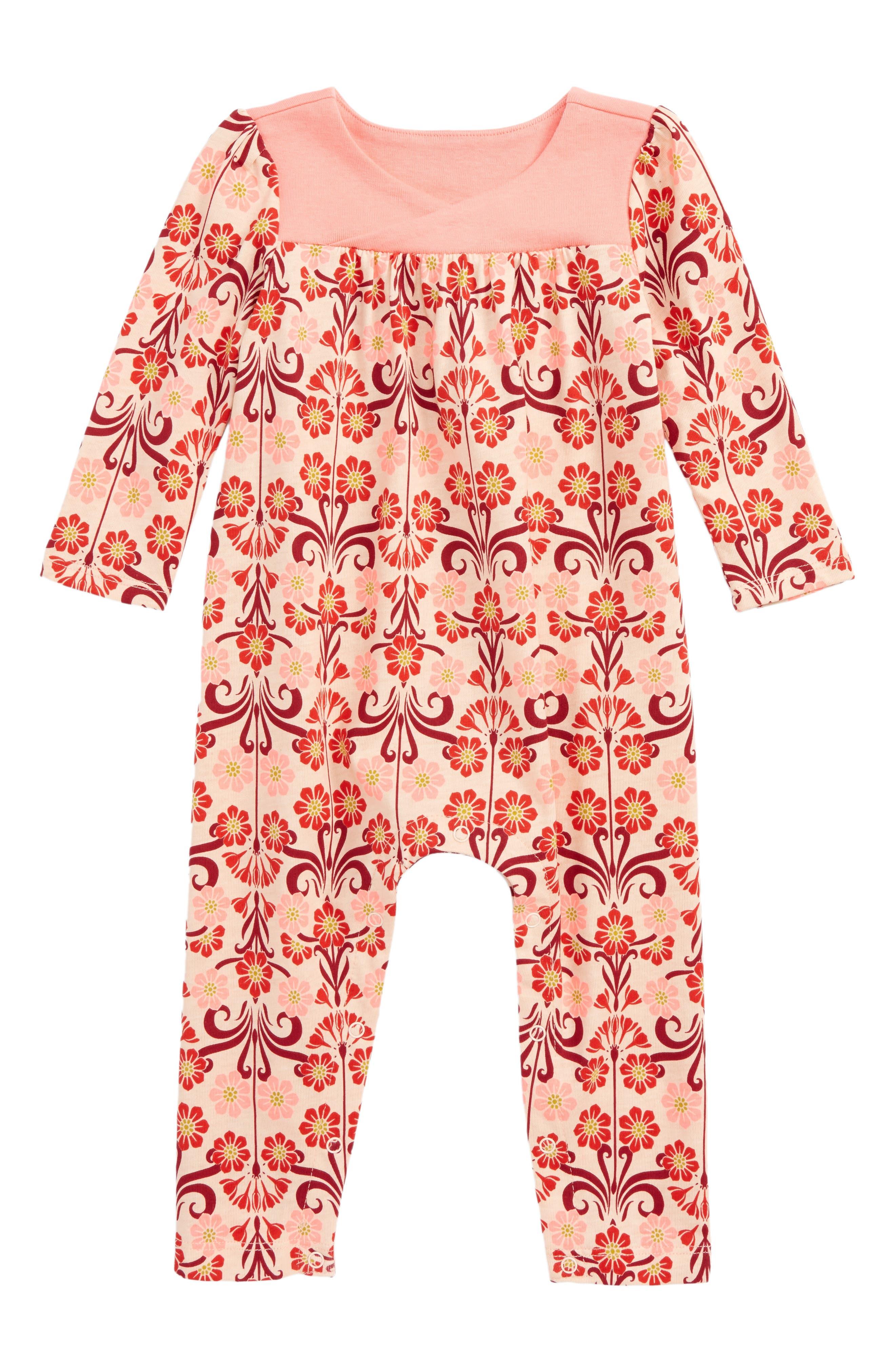 Main Image - Tea Collection Dahlia Romper (Baby Girls)