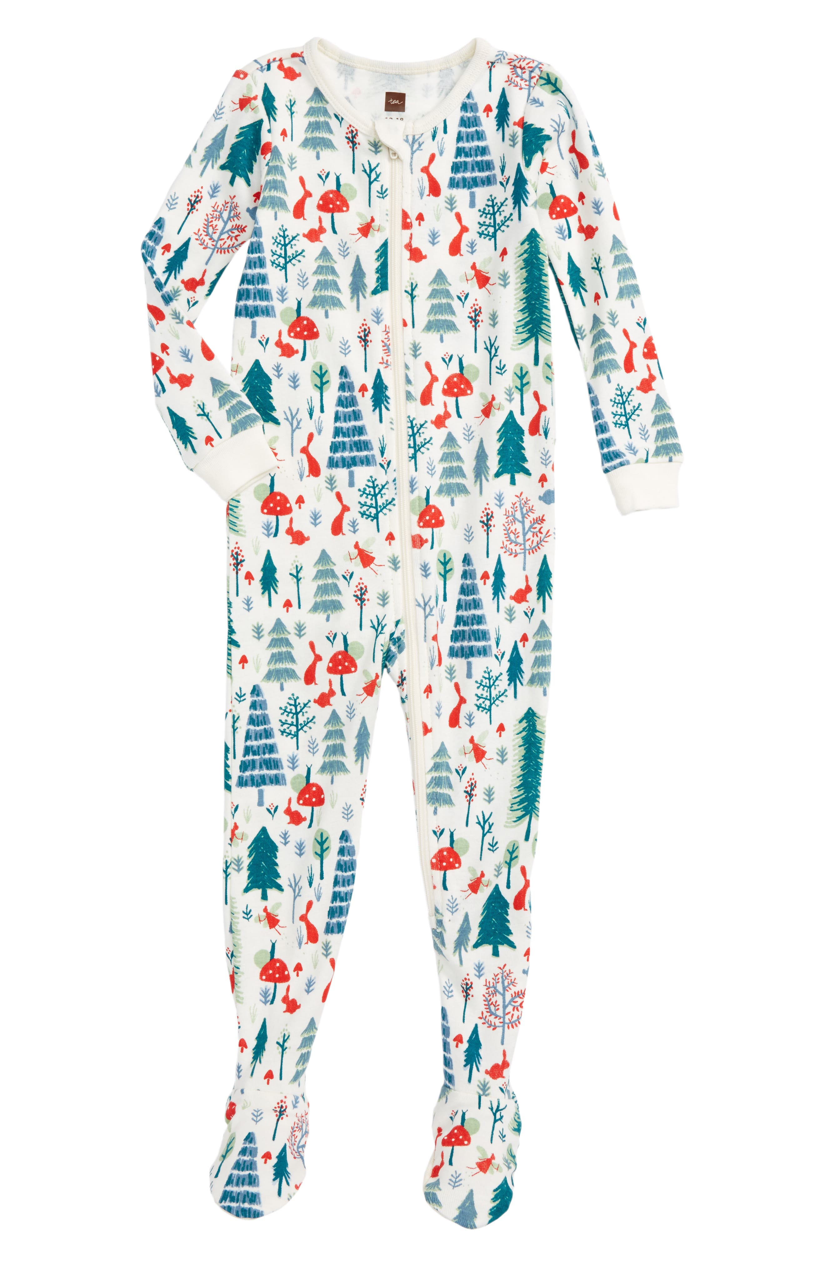 Maeve Fitted One-Piece Pajamas,                         Main,                         color, Chalk
