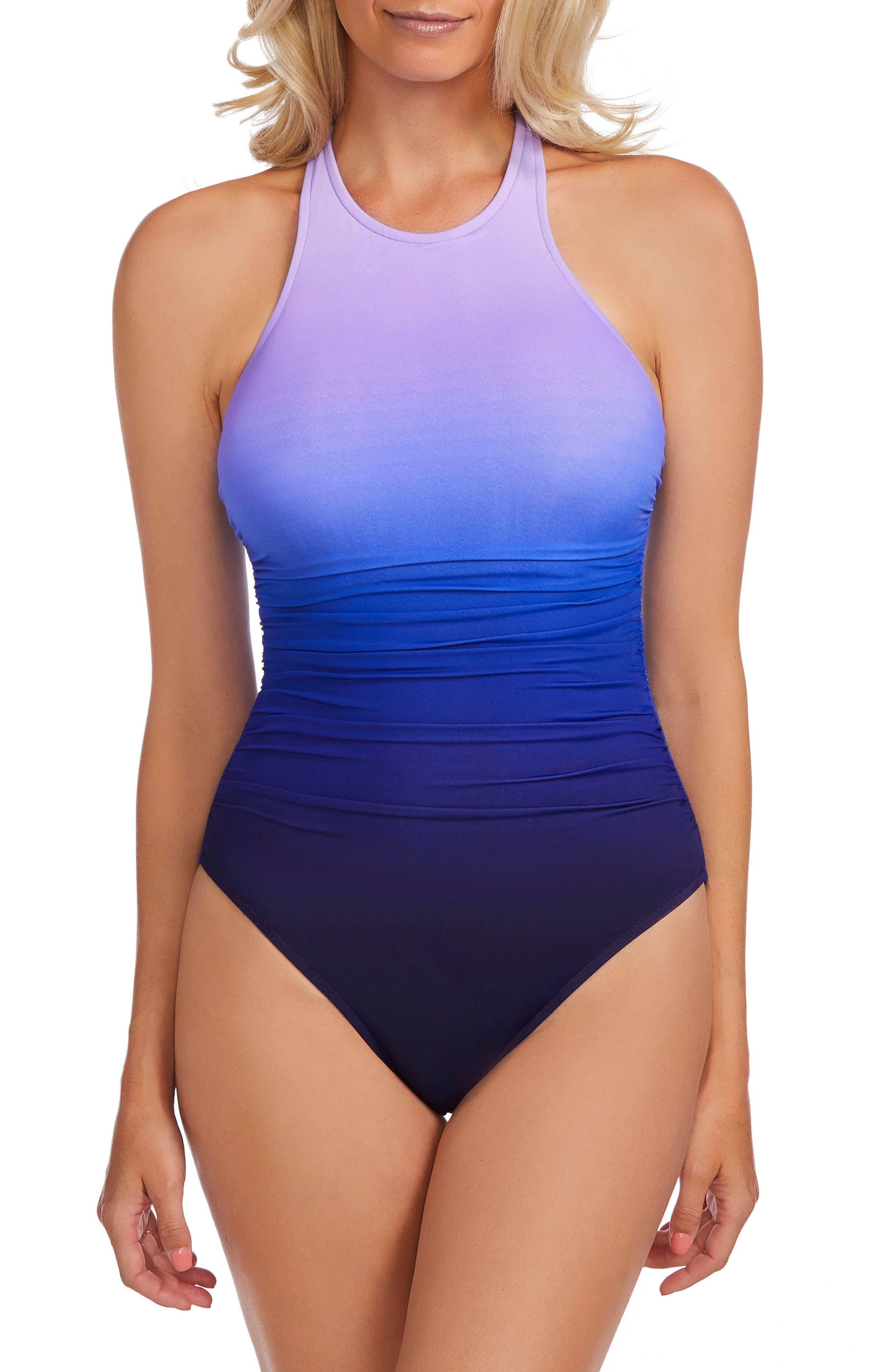 Infinity Danika One-Piece Swimsuit,                         Main,                         color, Purple