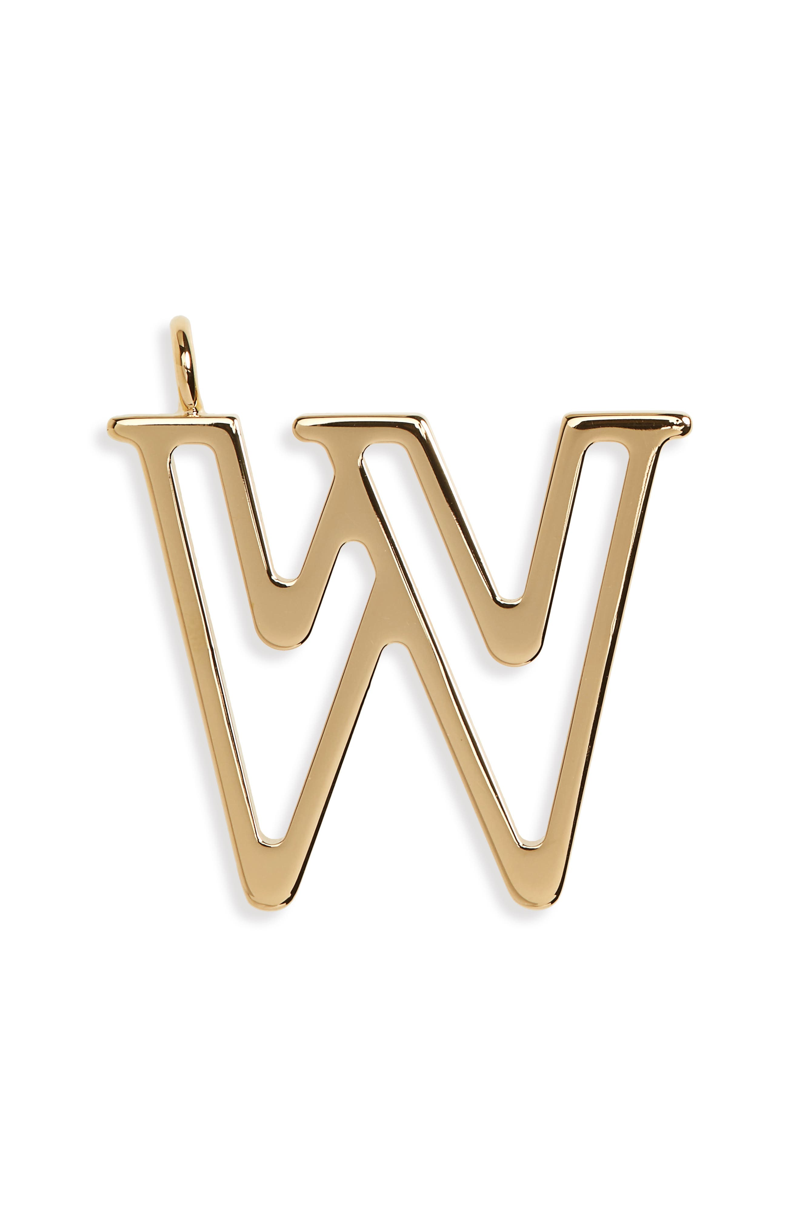 Chloe Letter Charm,                         Main,                         color, Gold-W
