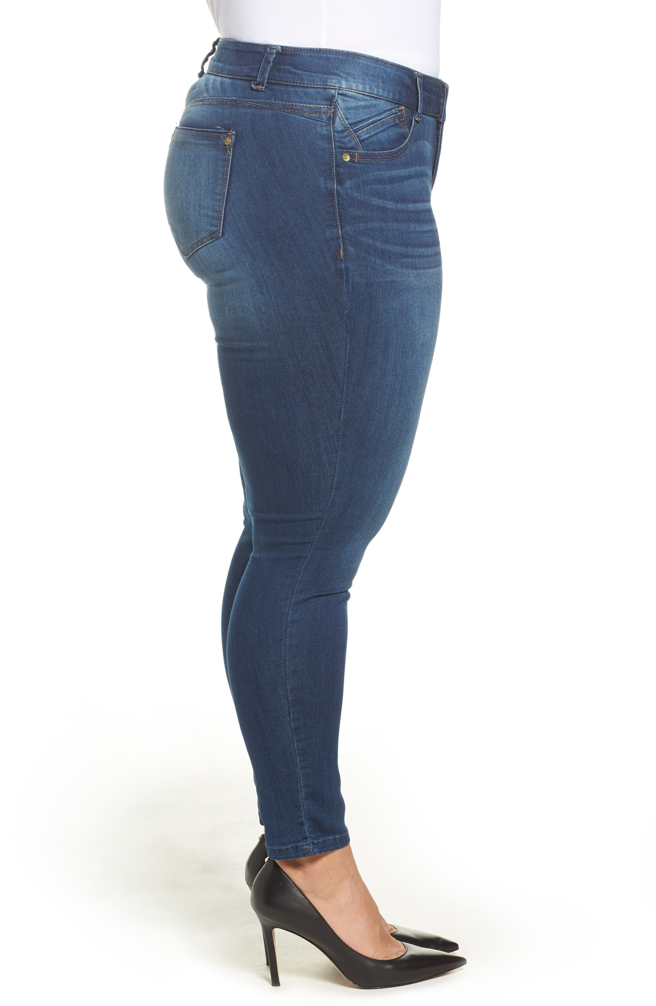 Alternate Image 3  - Wit & Wisdom Ab-solution Skinny Jeans (Plus Size) (Nordstrom Exclusive)