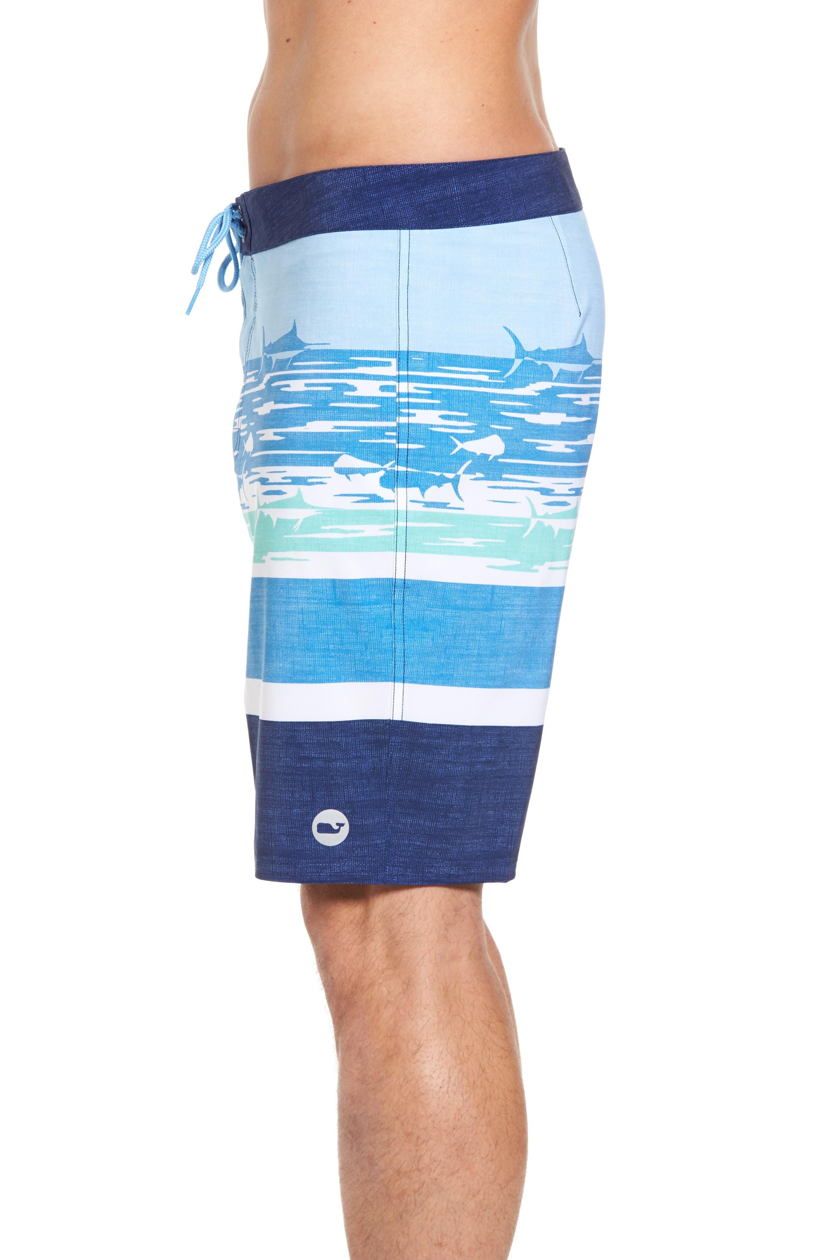 At Sea Scenic Board Shorts,                             Alternate thumbnail 3, color,                             Deep Bay