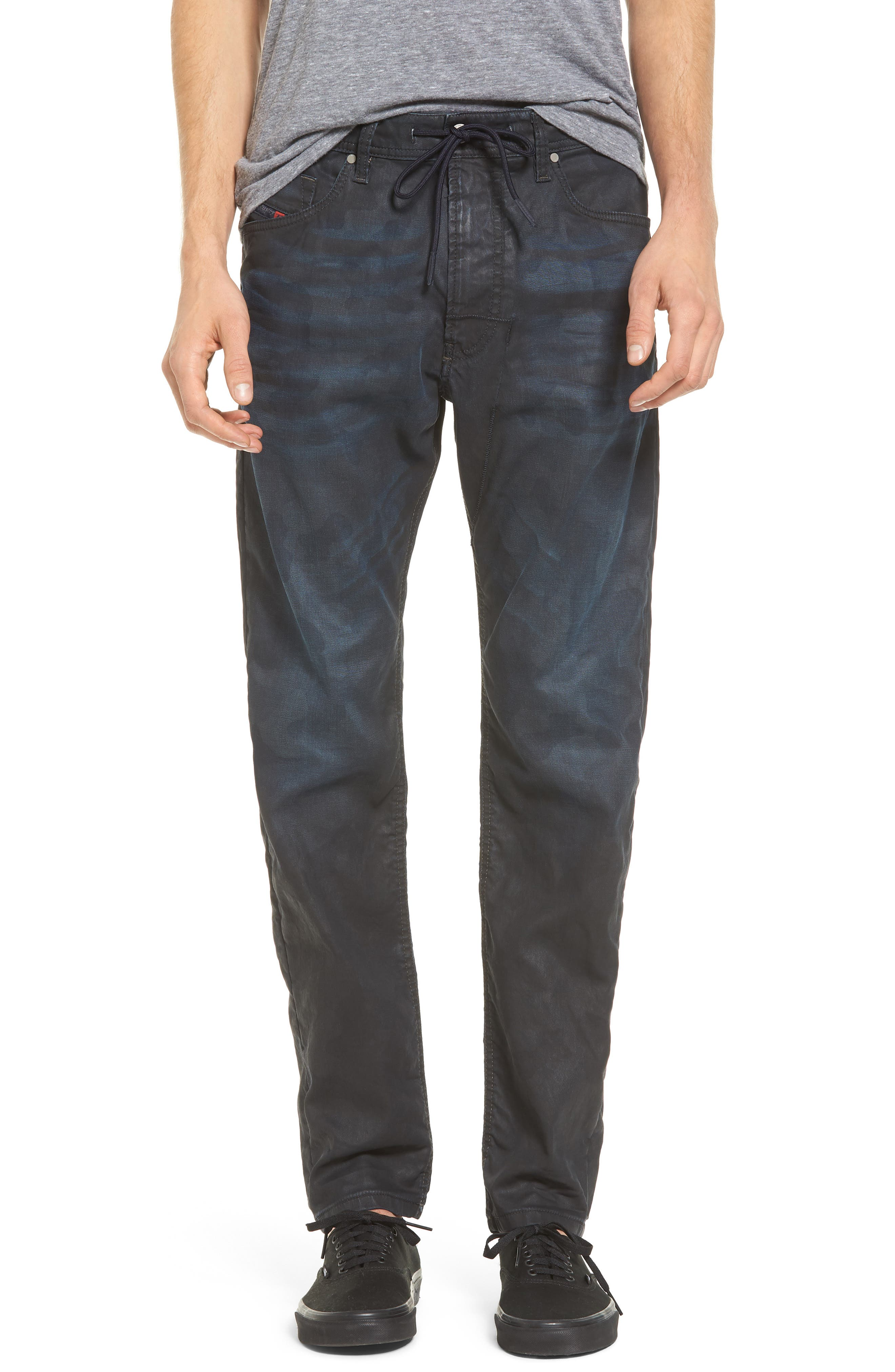 Narrot Slouchy Skinny Fit Jeans,                         Main,                         color, Denim