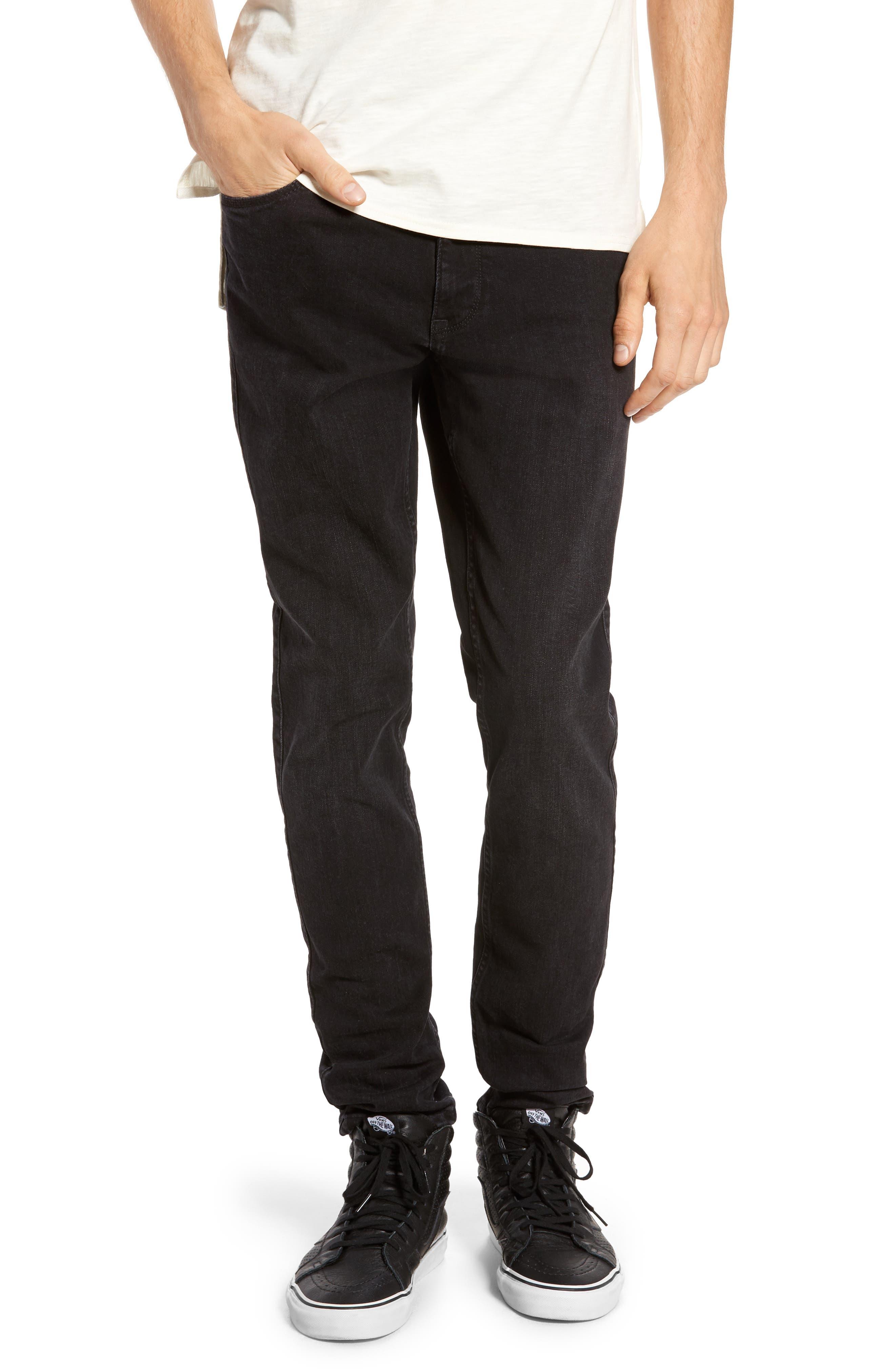 Clark Slim Straight Leg Jeans,                             Main thumbnail 1, color,                             Organic Worn Black