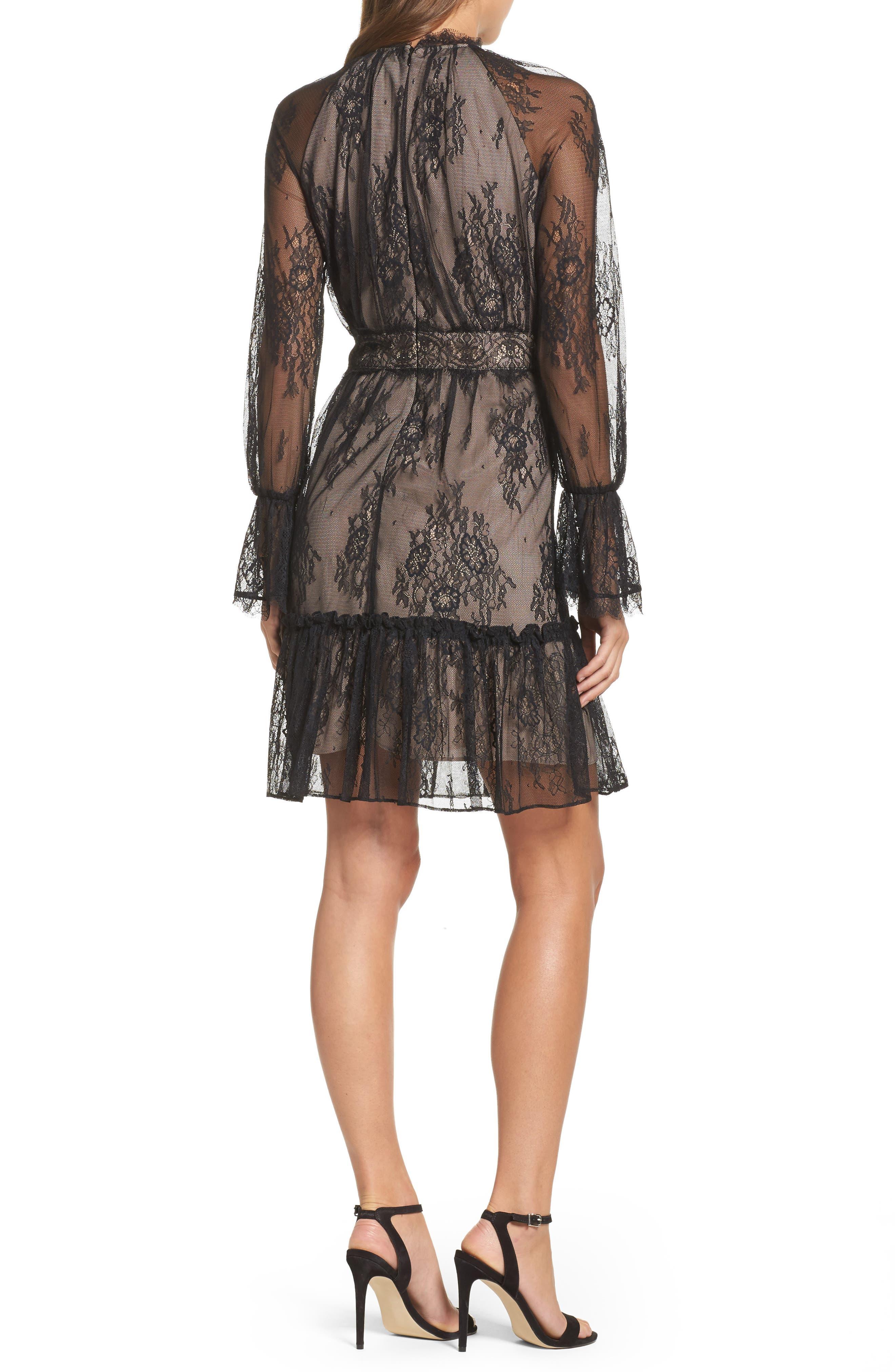 Alternate Image 2  - Shoshanna Floral Medallion Lace Fit & Flare Dress